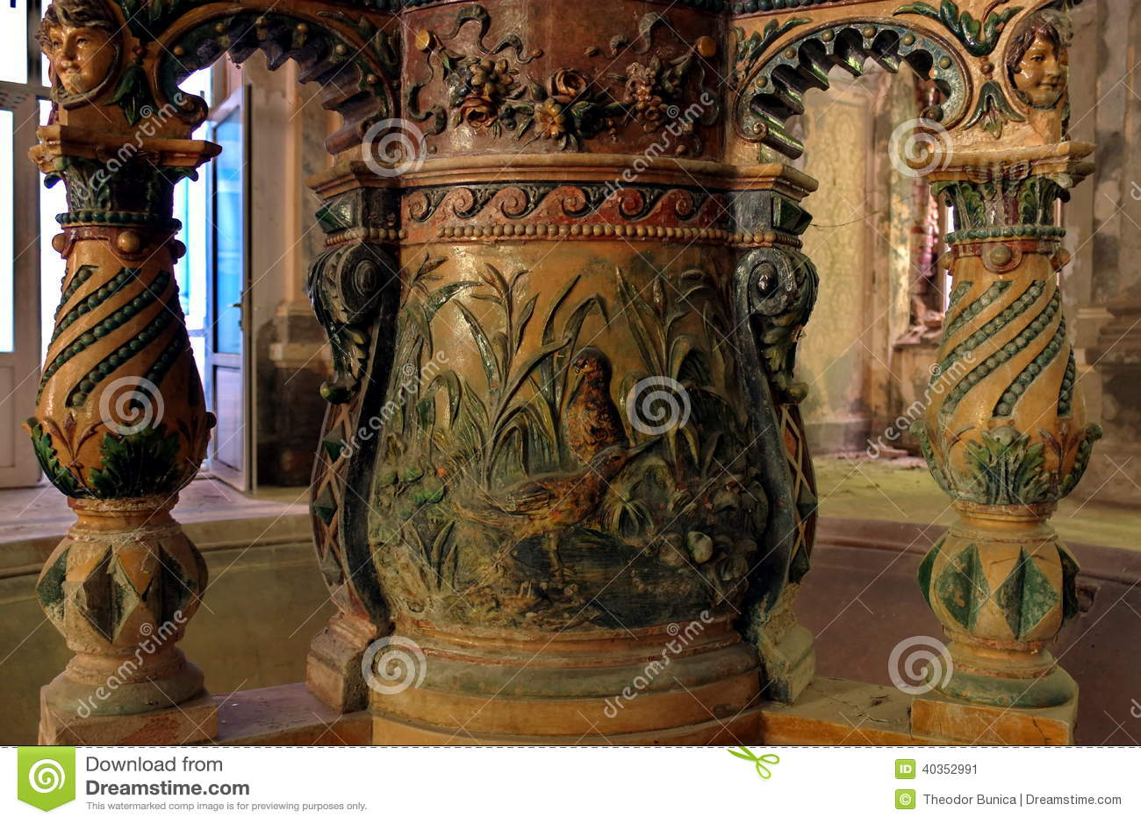Detalhe de uma fonte do século XIX - Baile Herculane - Romênia