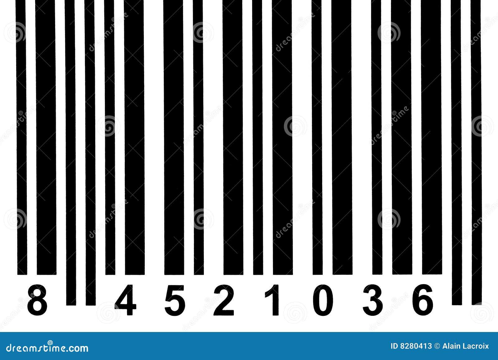 Detalhe do código de barras