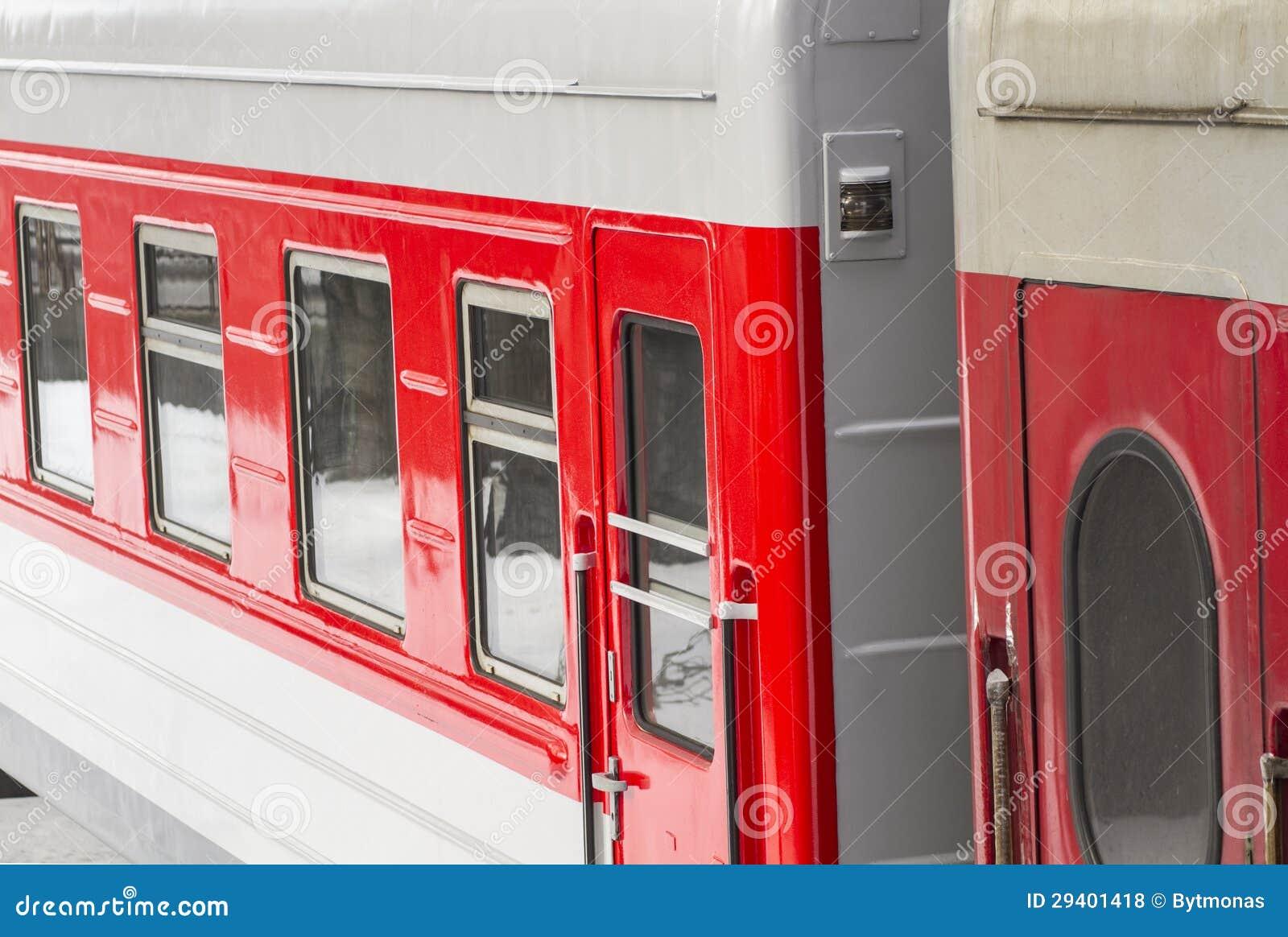 Detalhe do comboio de passageiros