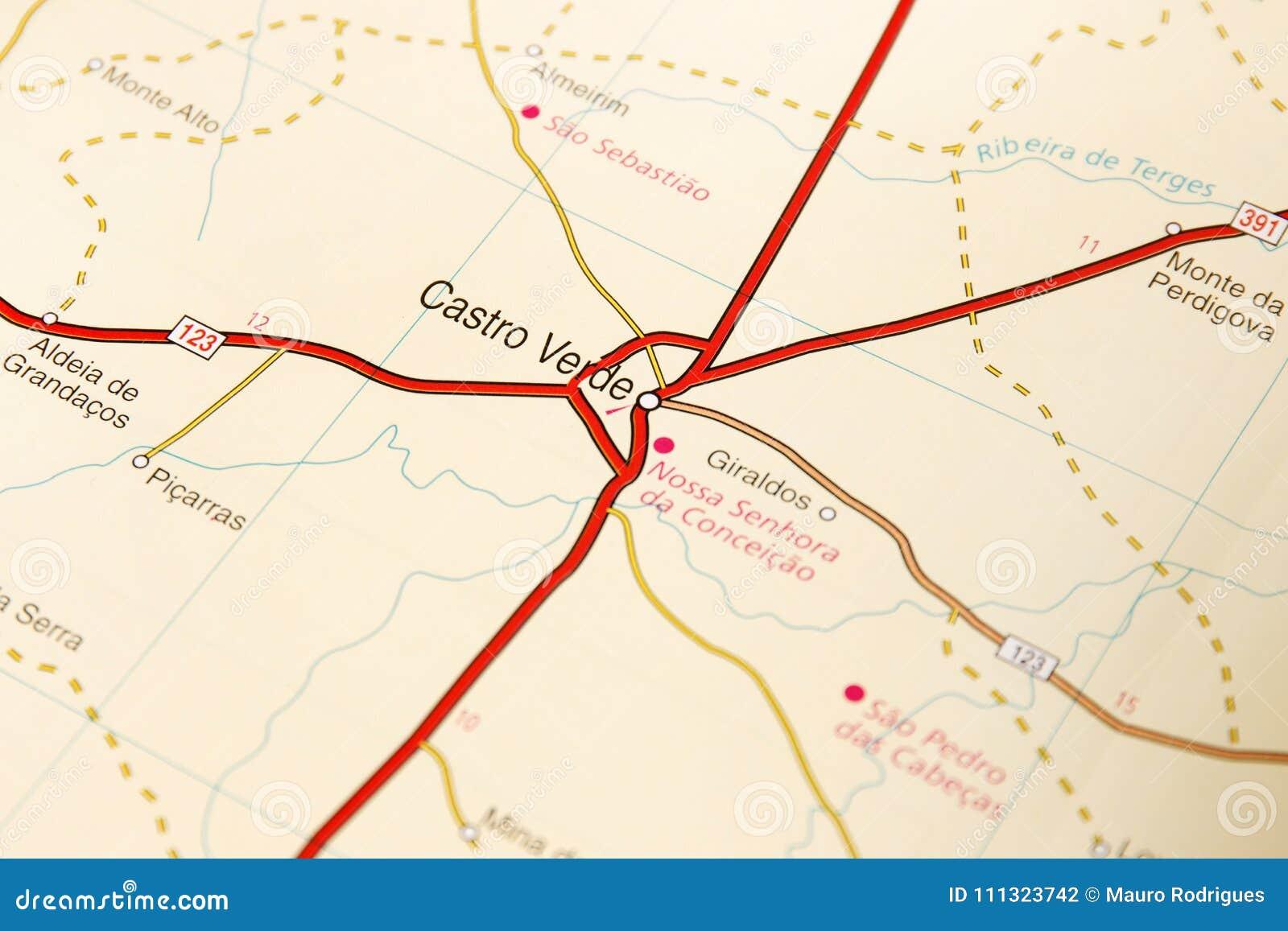 Detalhe Do Mapa De Estradas Foto De Stock Imagem De Estrada