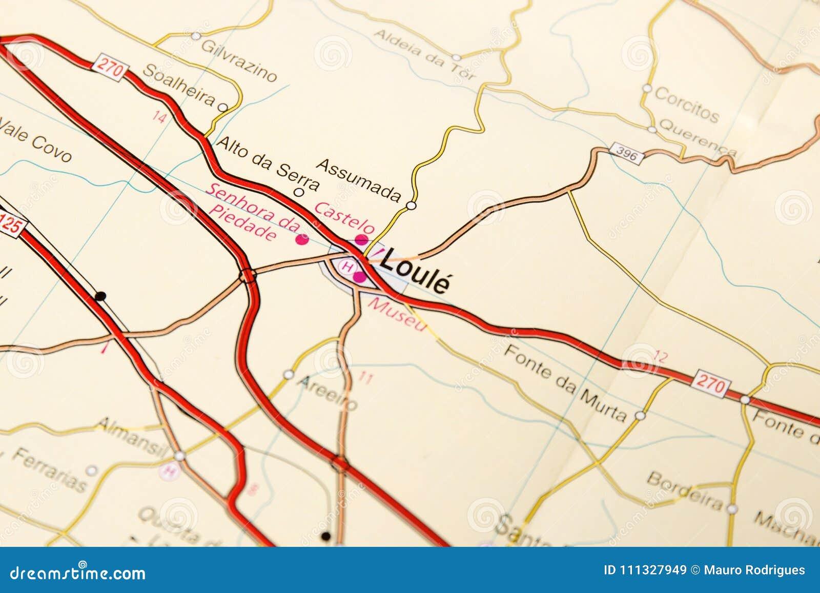 Detalhe Do Mapa De Estradas Imagem De Stock Imagem De Aeroporto