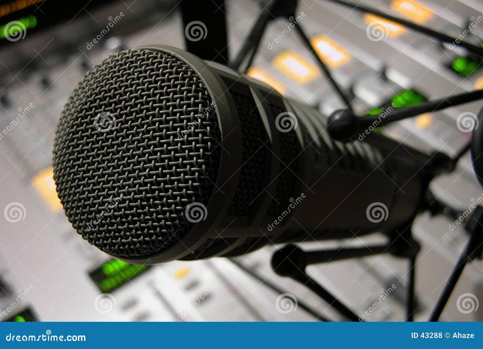Detalhe do microfone