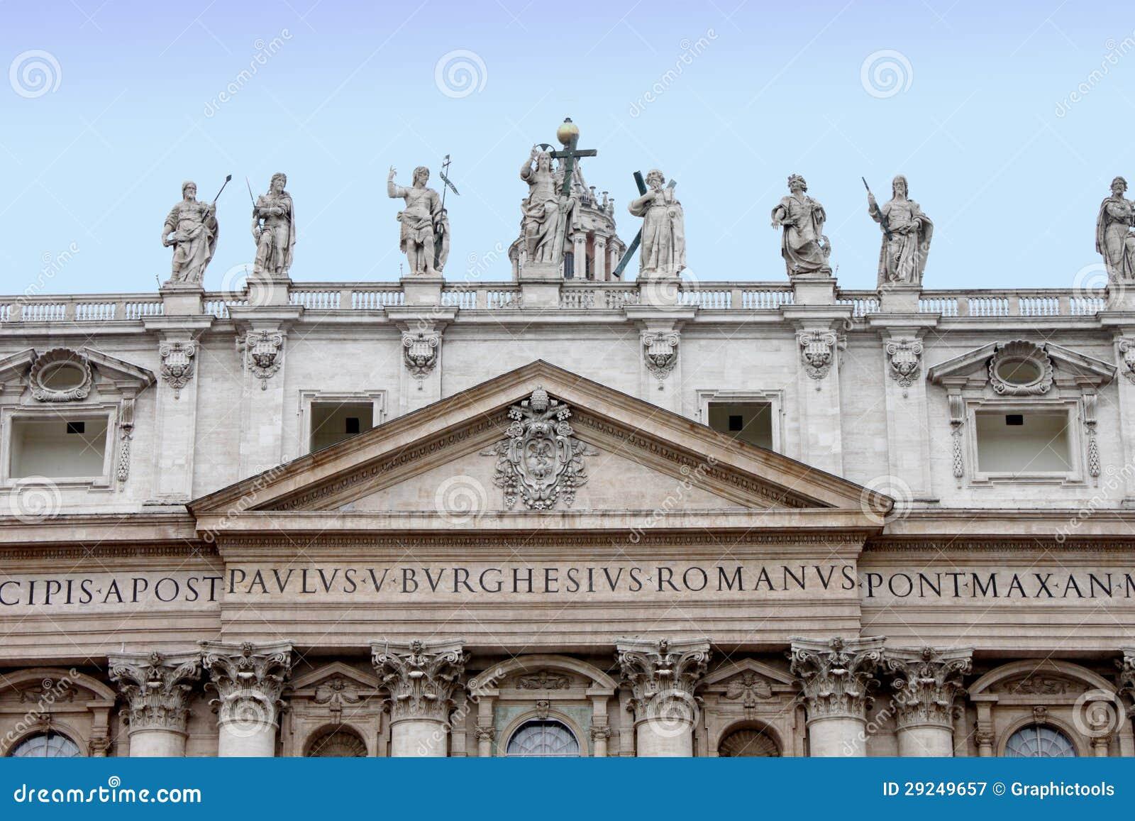 Download Detalhe Do San Pietro Na Cidade De Vaticano Imagem de Stock - Imagem de cultura, europa: 29249657