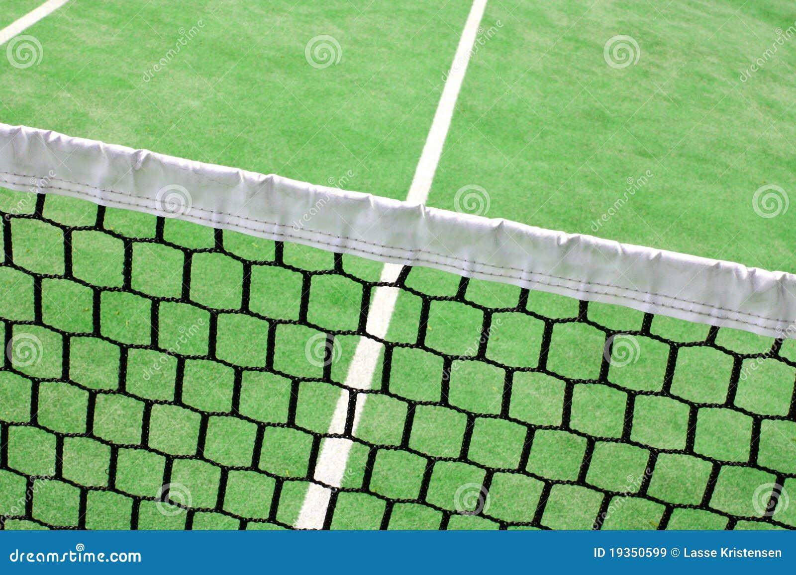 Detalhe em uma corte de tênis