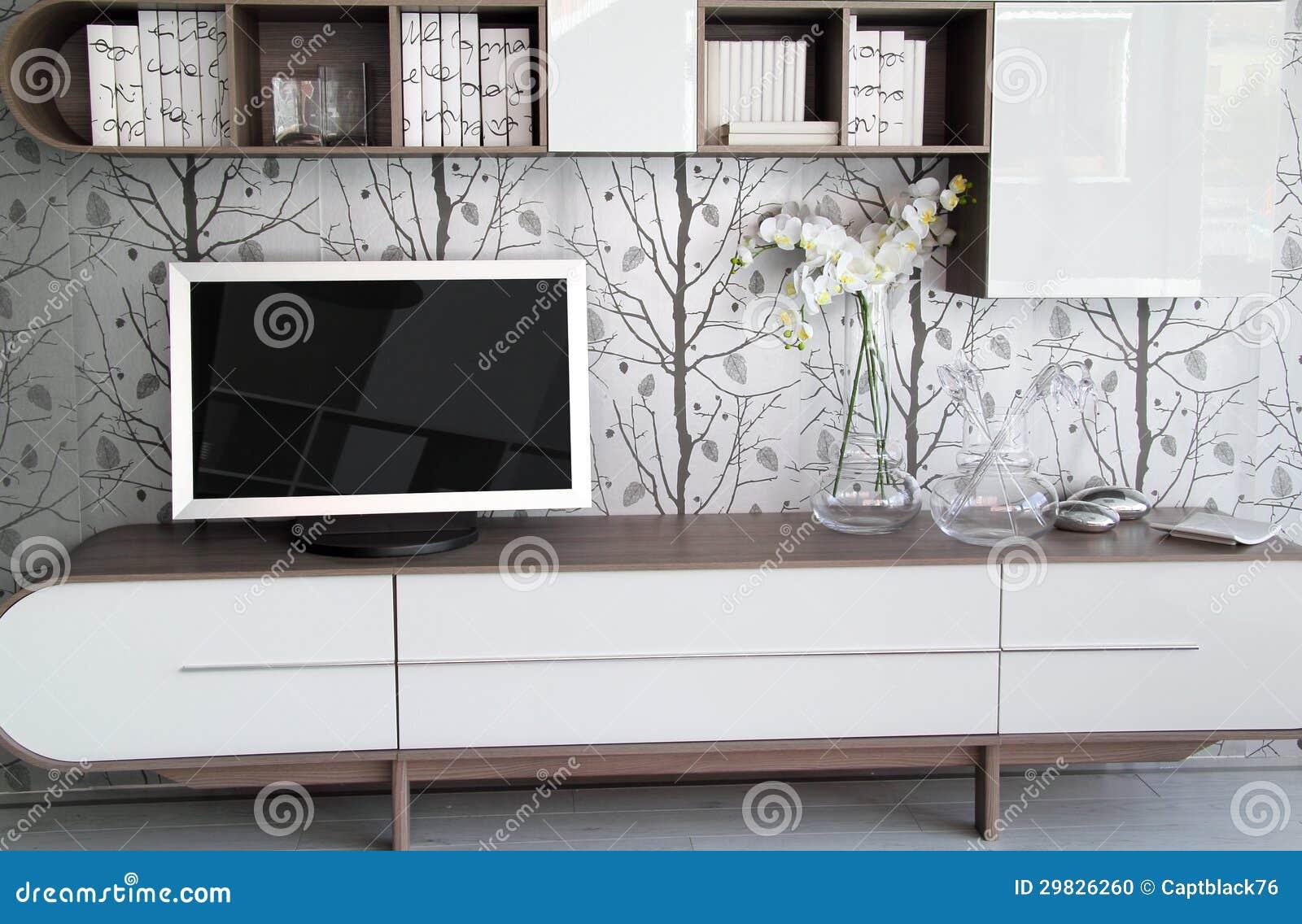 Detalhe moderno e à moda da sala de visitas