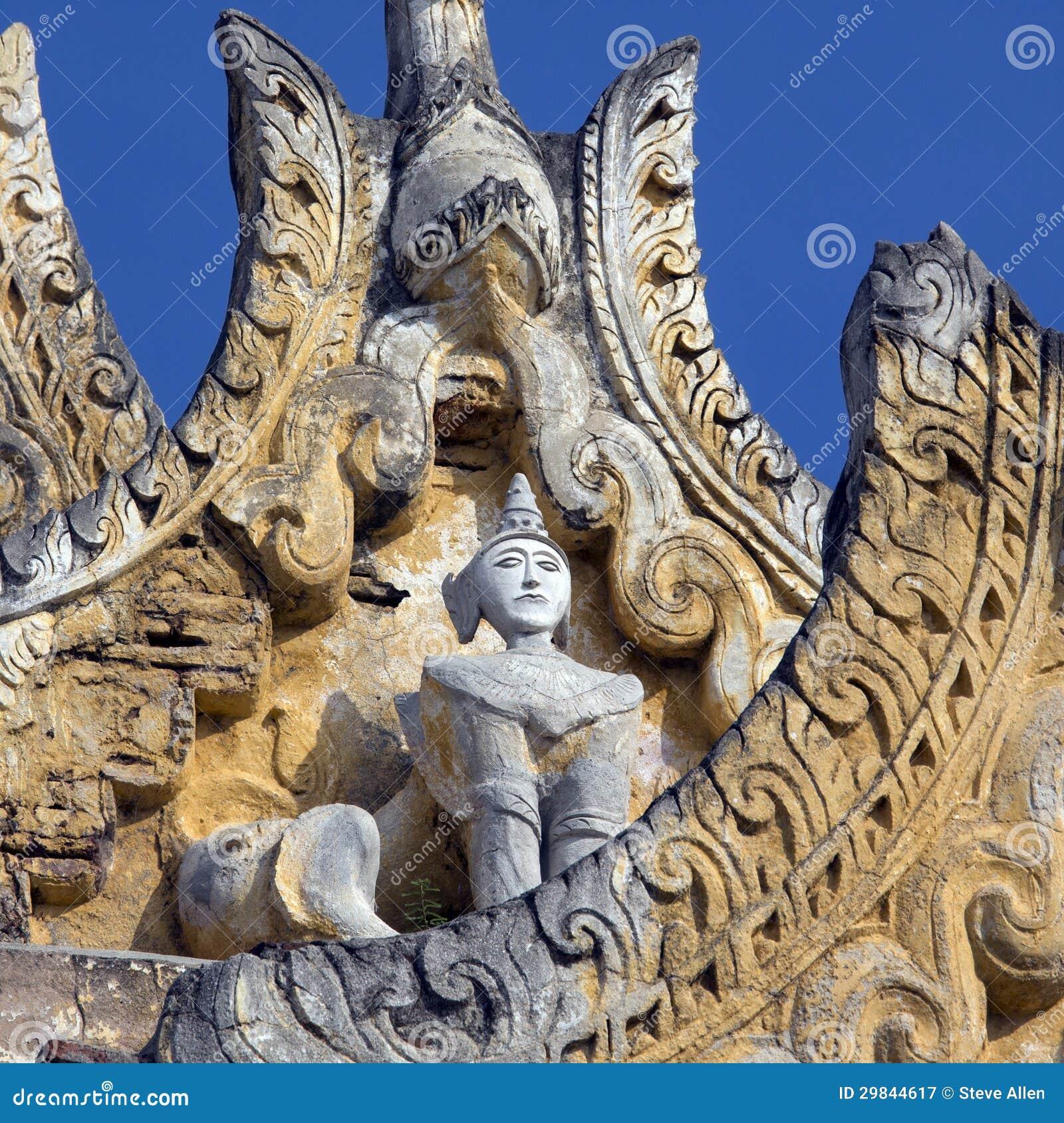 O monastério antigo arruina - Innwa - Myanmar