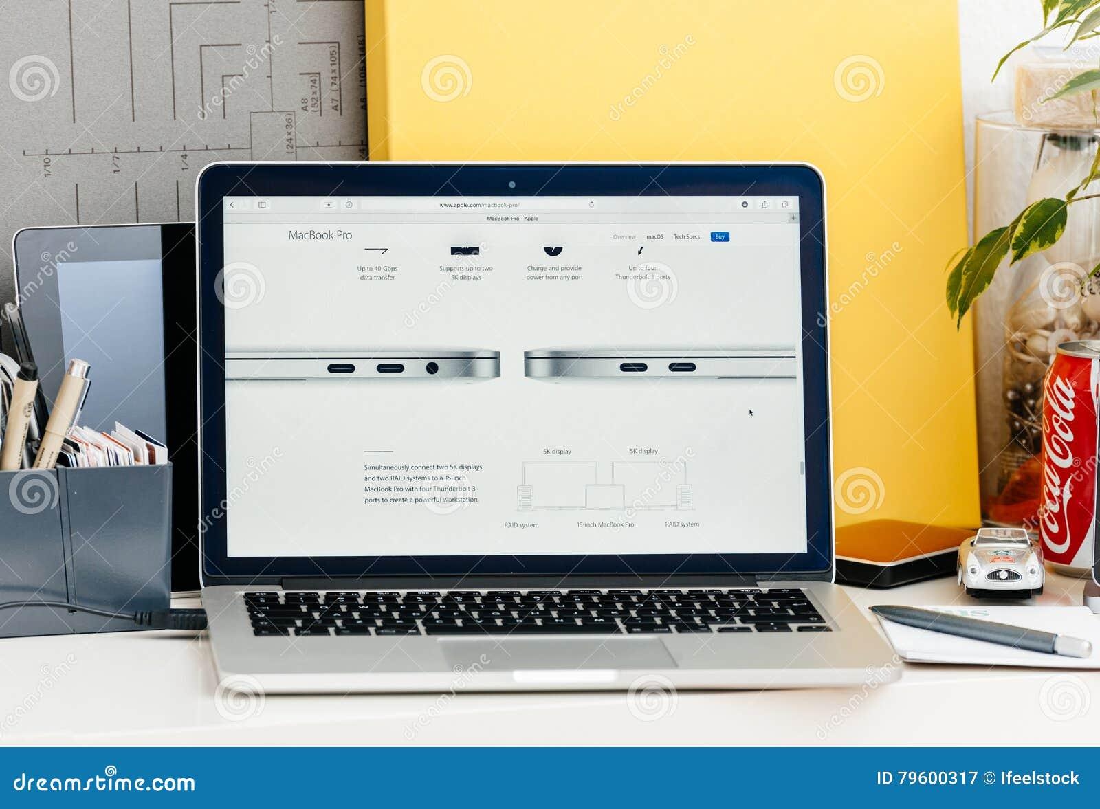 Detalhe novo do raio 3 da barra do toque da retina de MacBook Pro