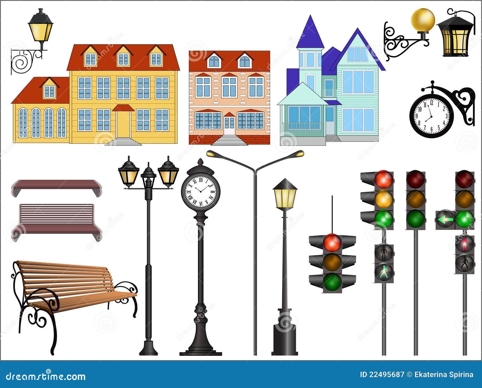 Detalhes da rua da cidade