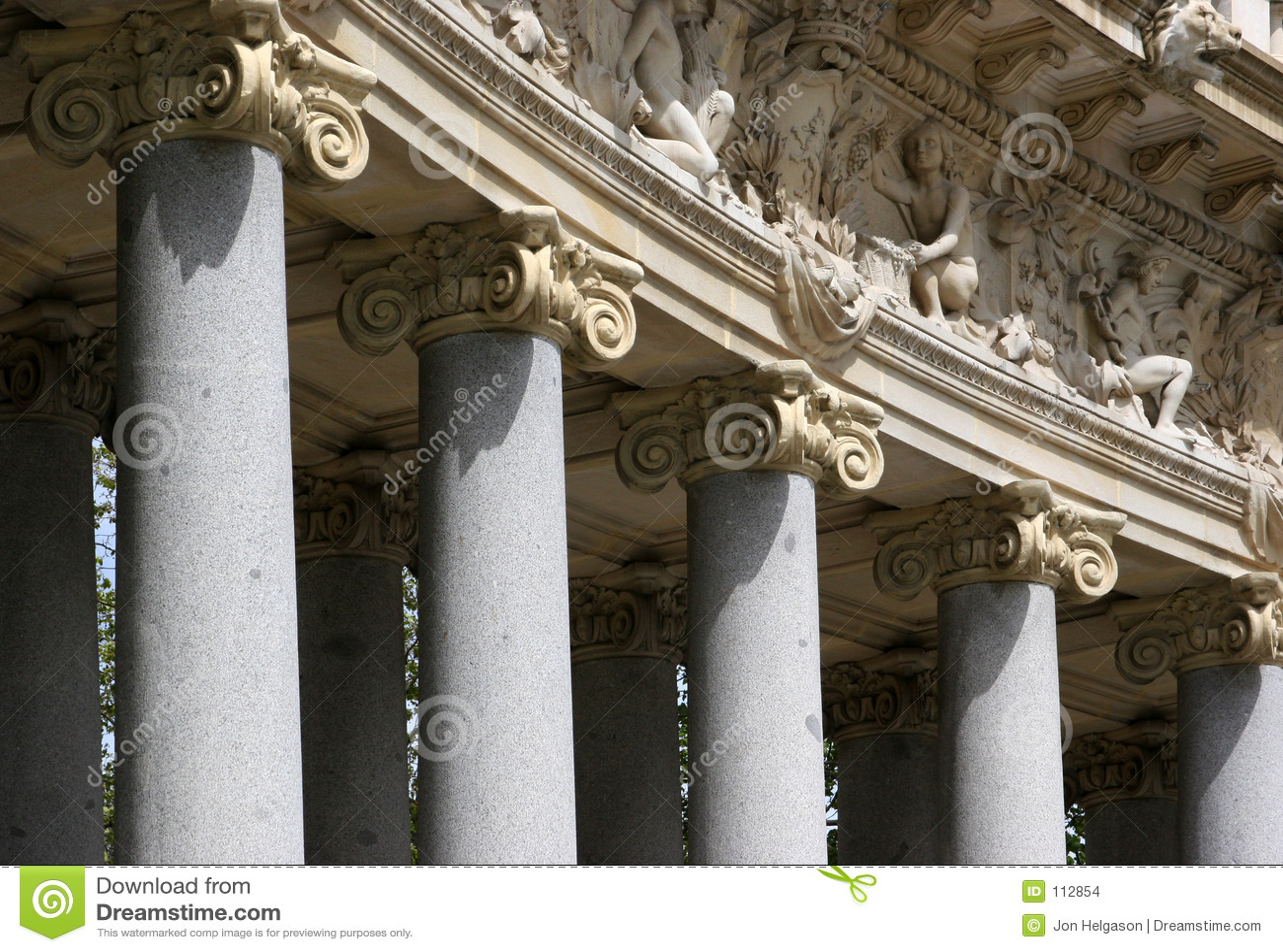 Detalhes de colunas do corinthian