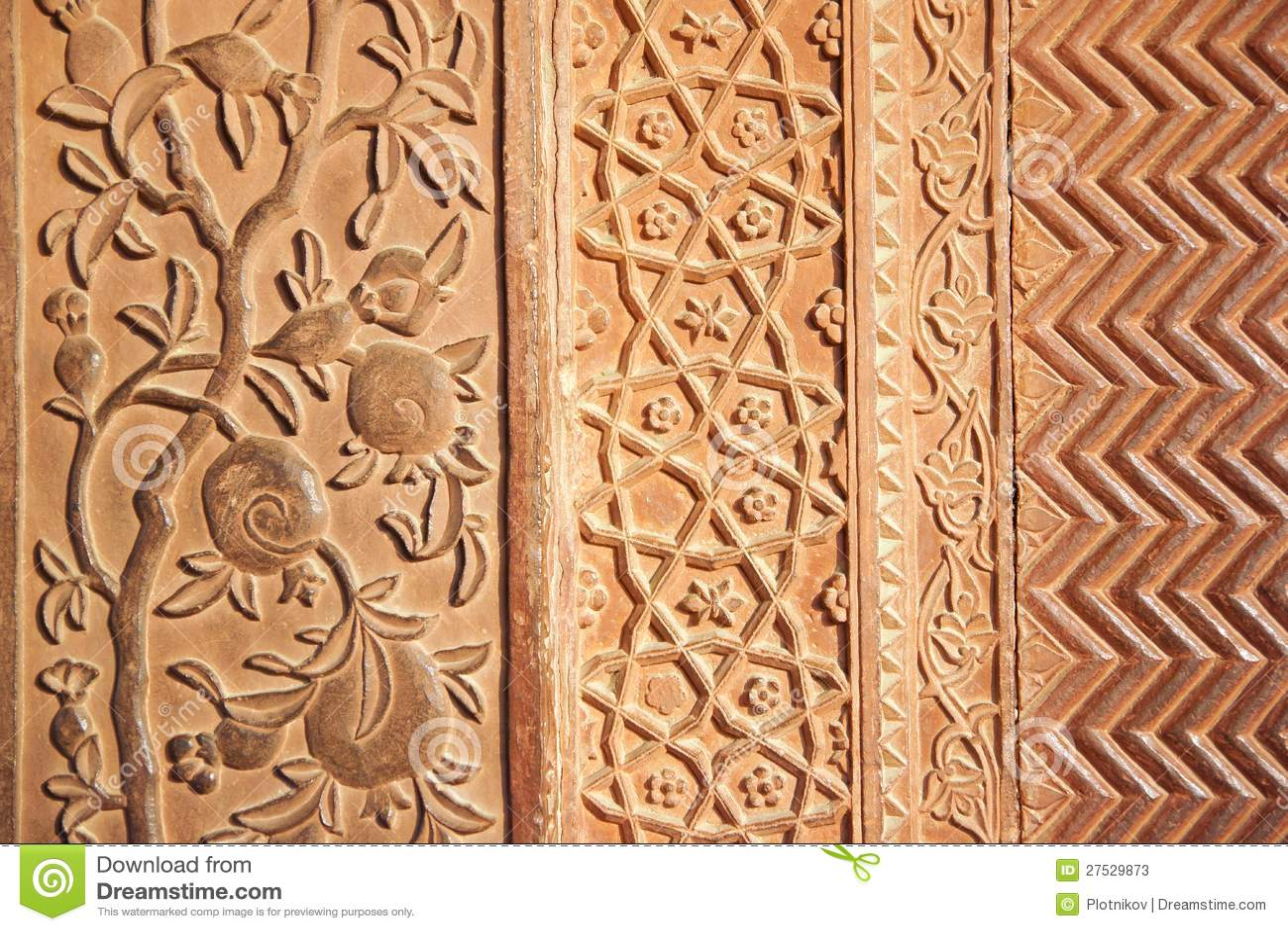 Detalhes de superfície lustrada do sandstone.
