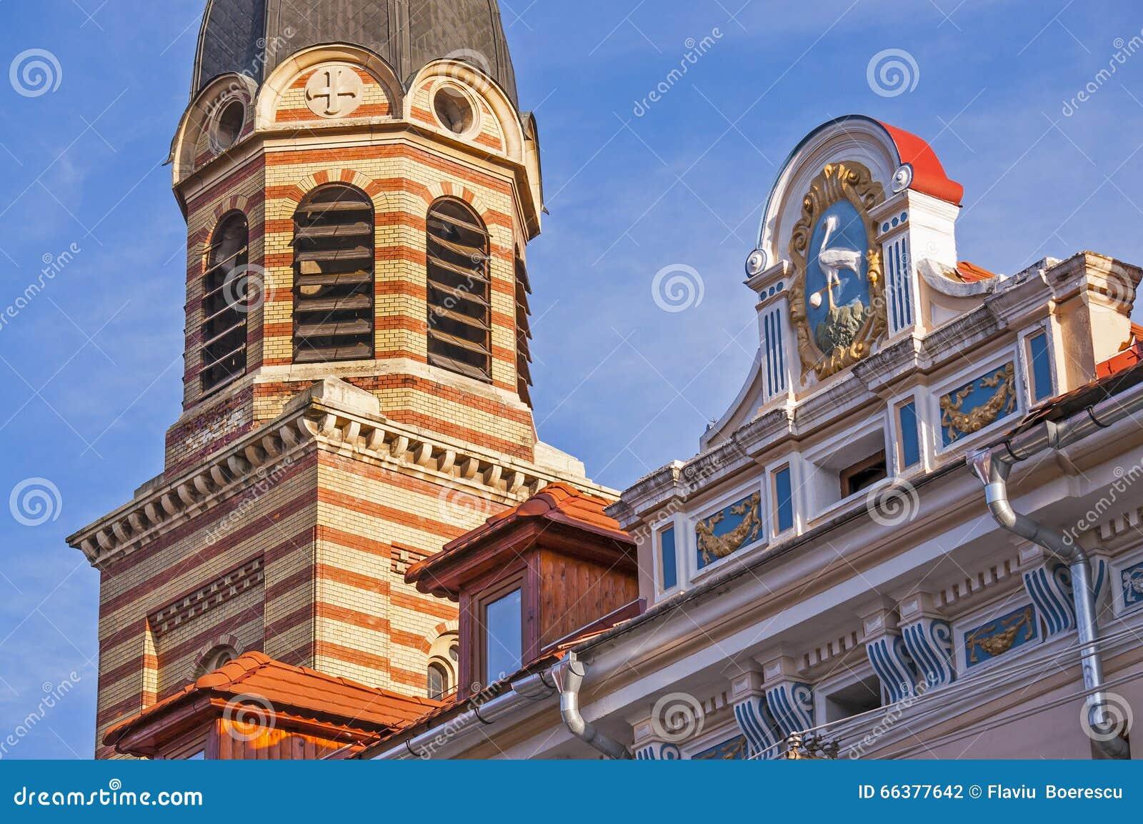 Detalj av arkitektur i Sibiu