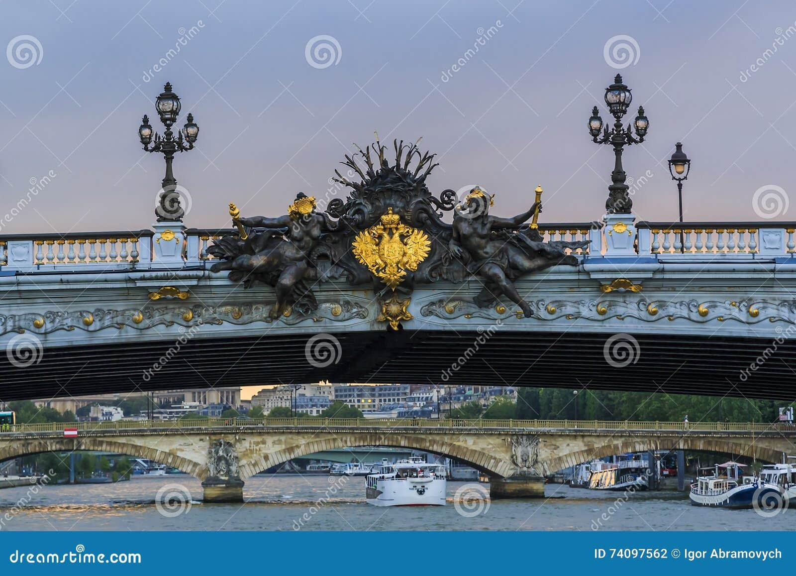 Detalj av den Alexander III bron