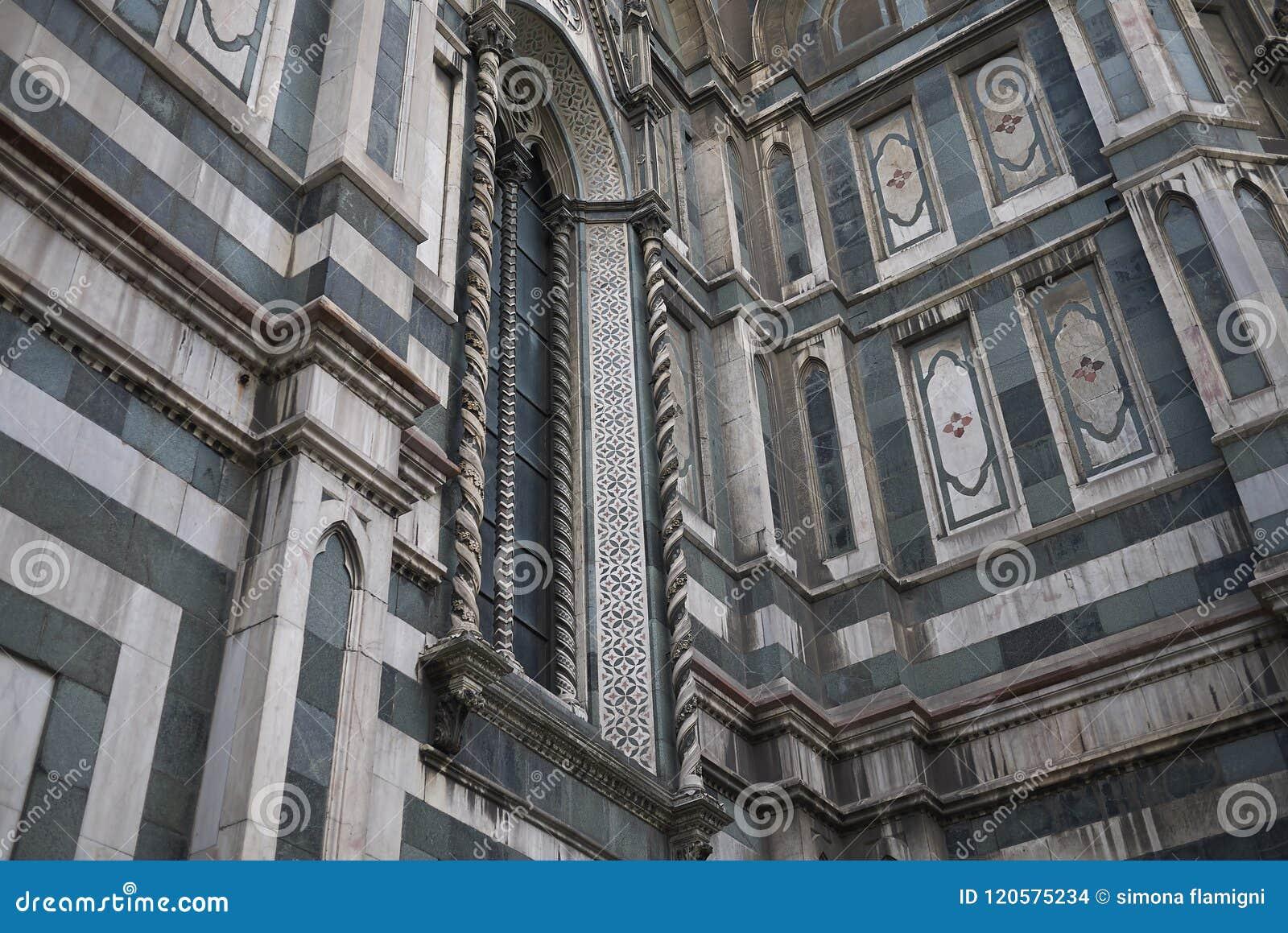 Detalj av den Florence domkyrkan