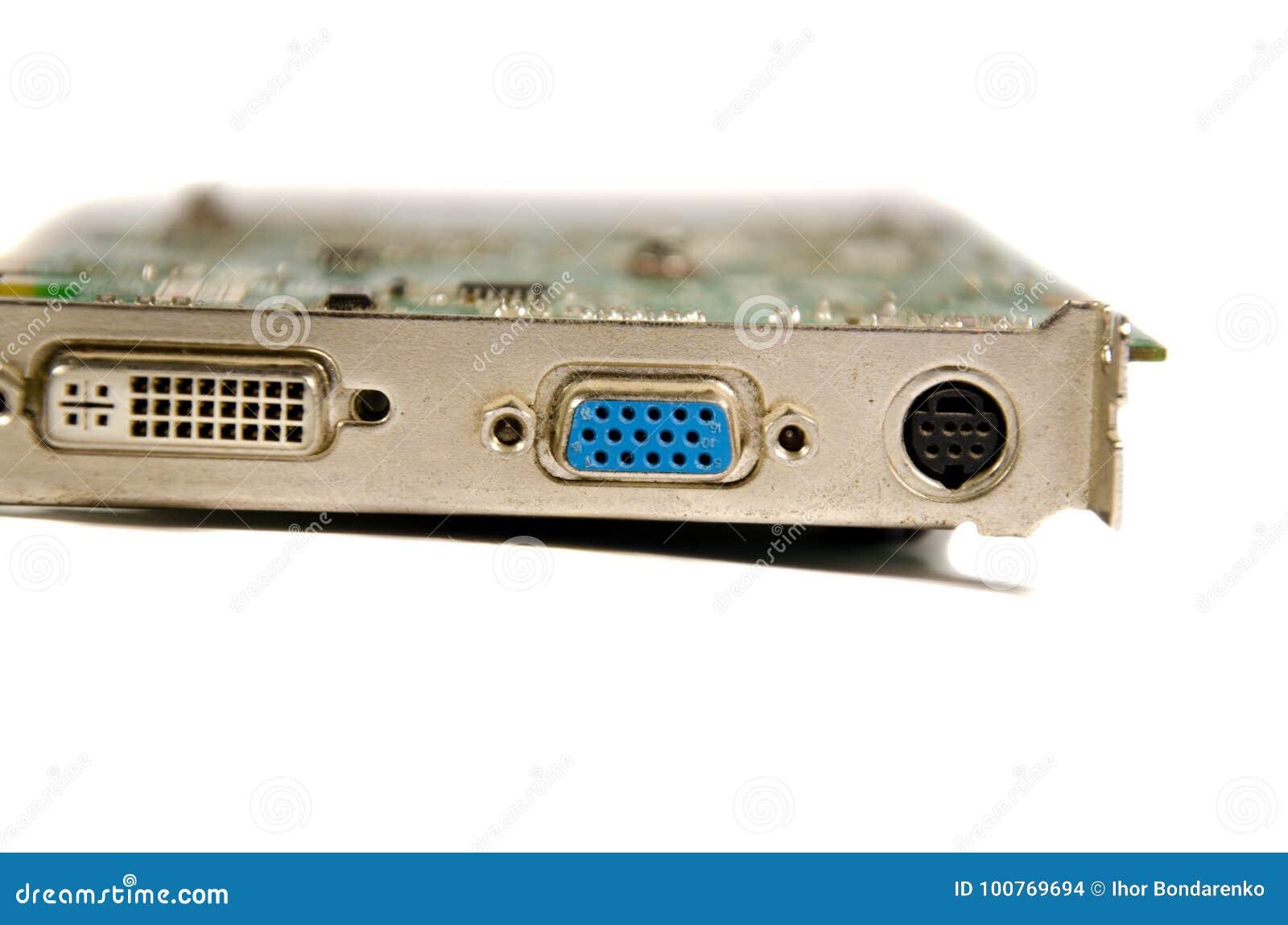 Detalj av det moderna datorvideokortet