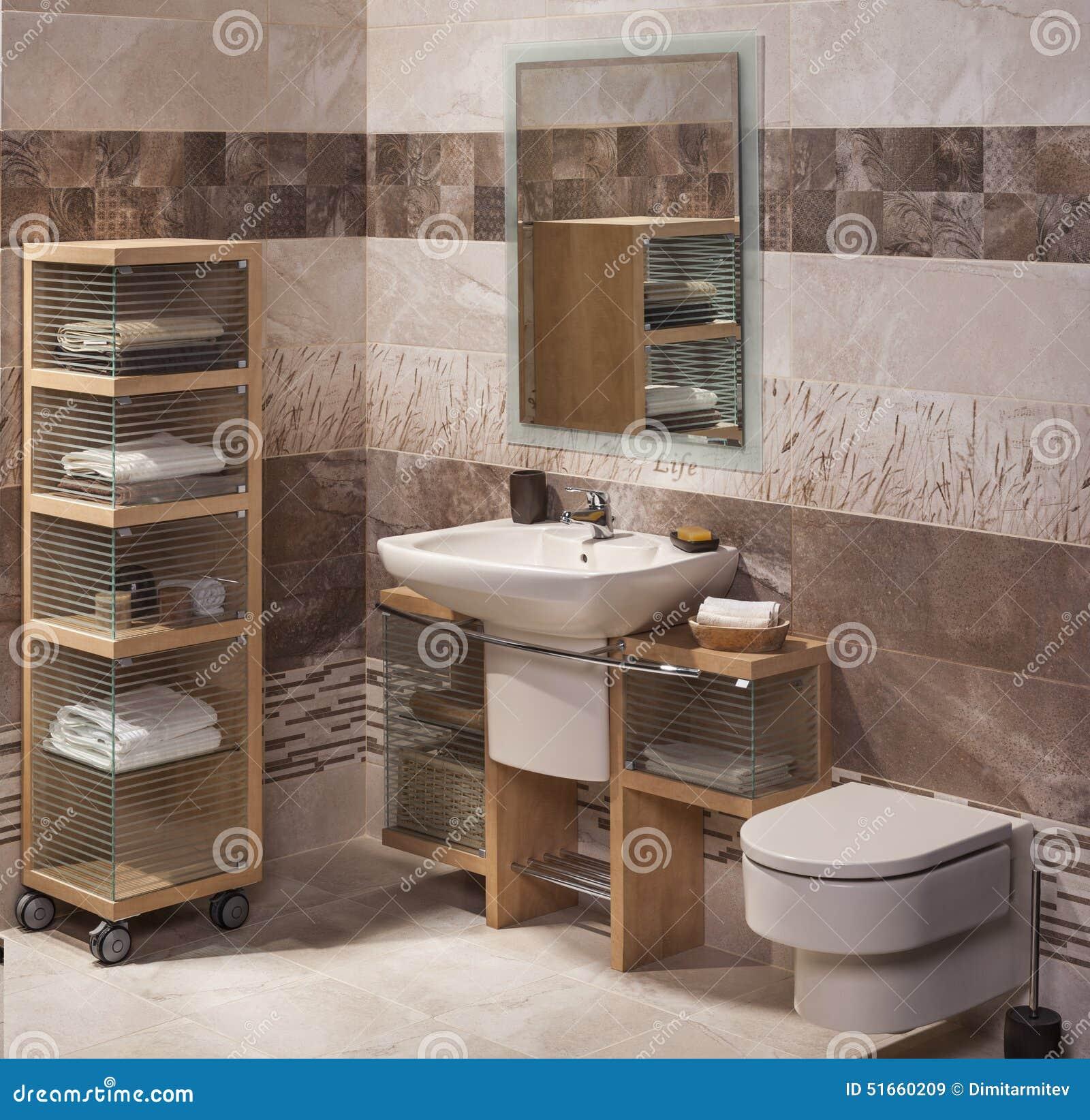 Detalj Av Ett Modernt Badrum Med Vasken Arkivfoto - Bild: 51660209