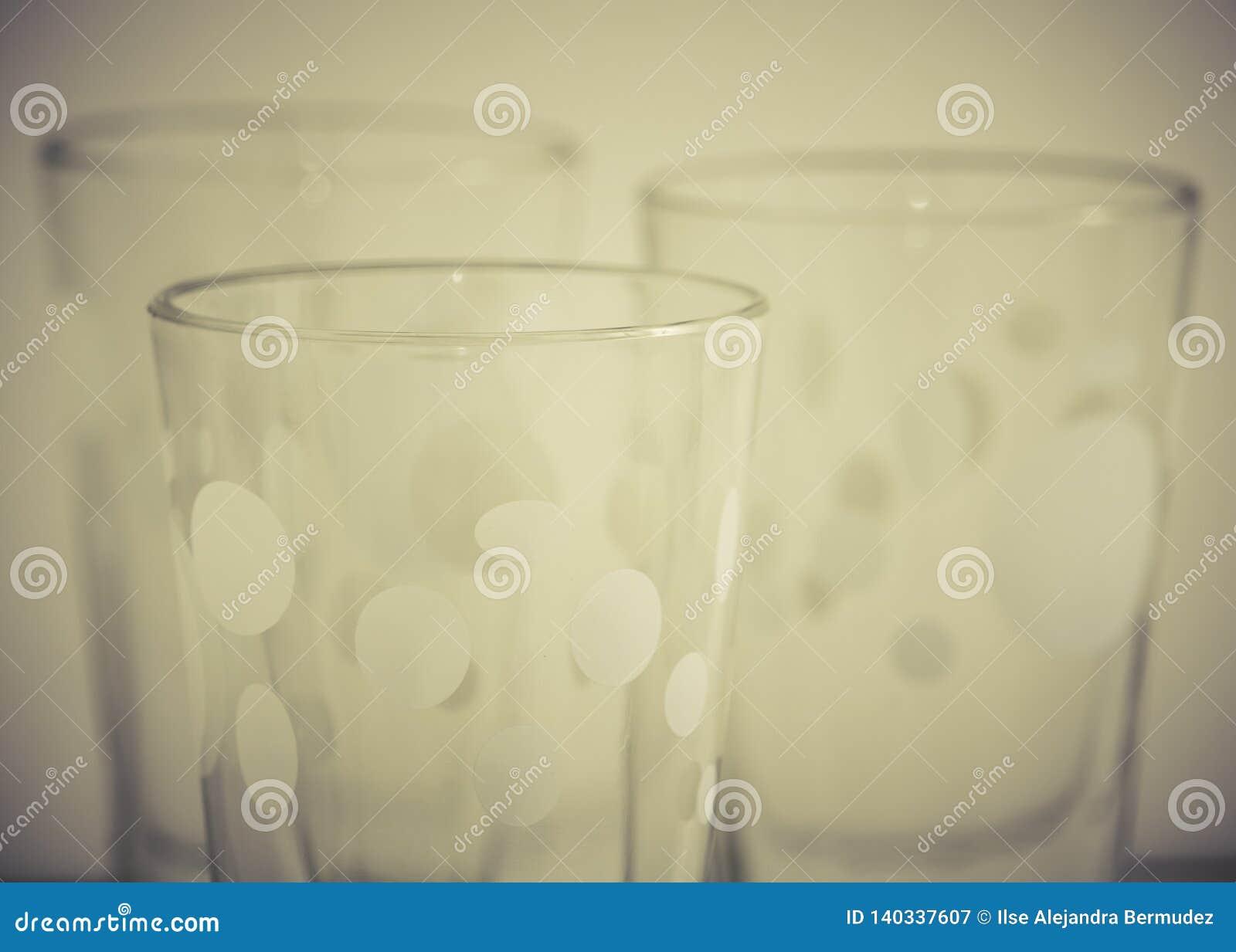 Detalj av exponeringsglaskoppar