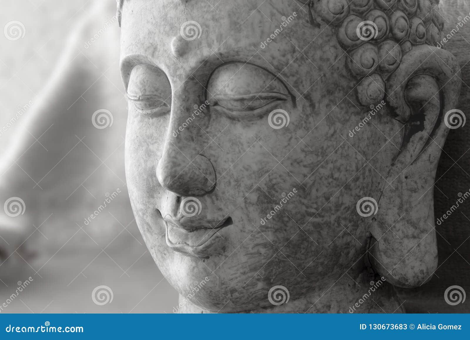 Detalj av stendiagramet av Buddhagrå färger