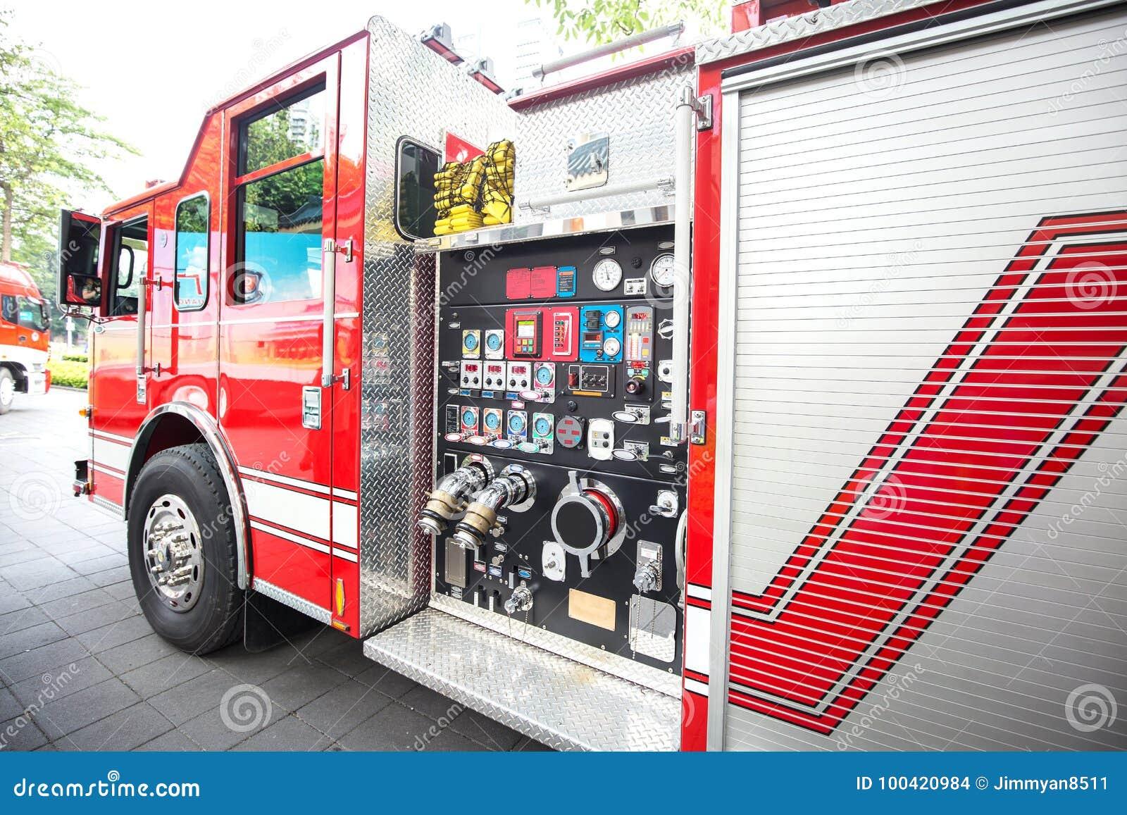 Detalj för brandmotor