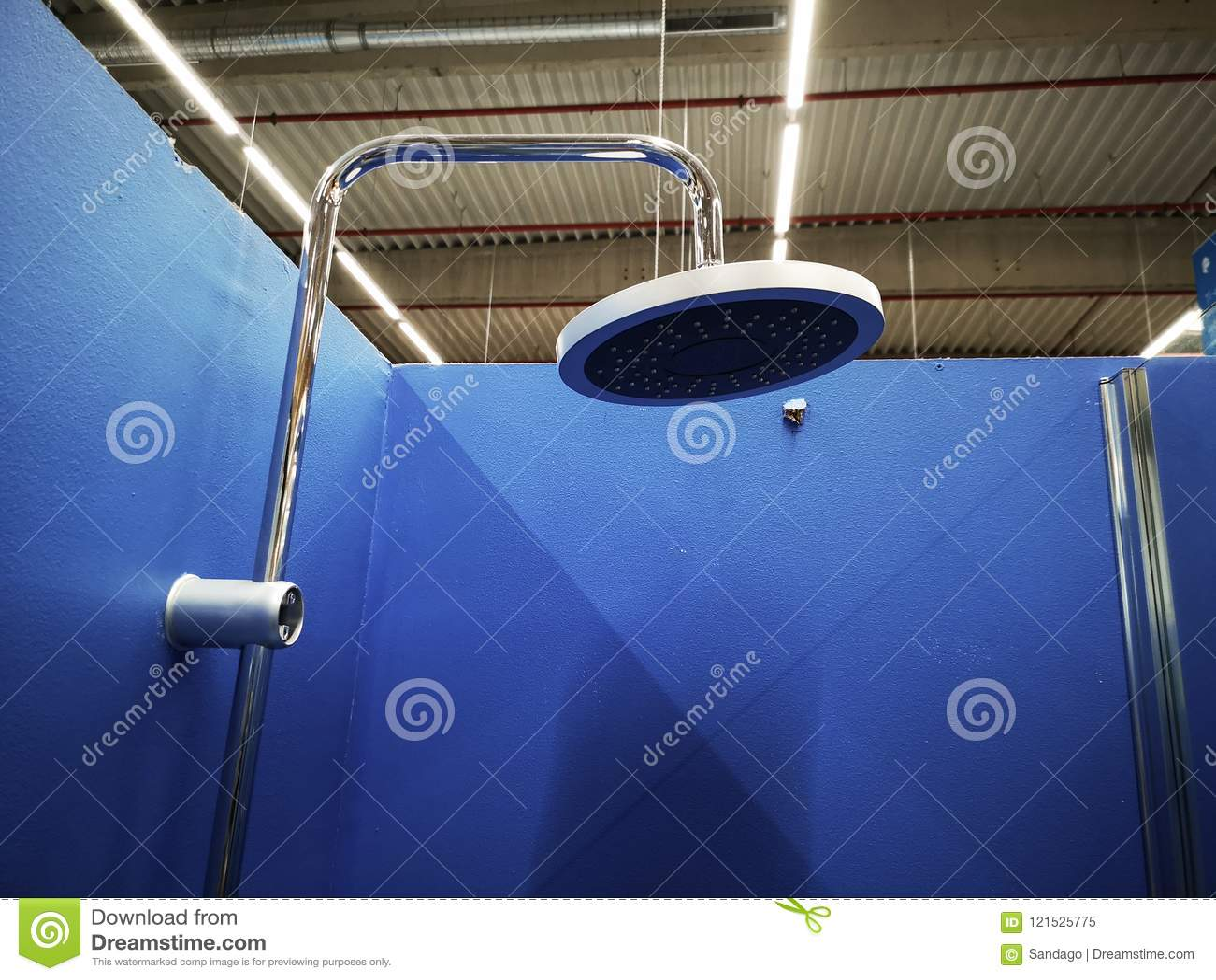 Detalj för duschhuvud