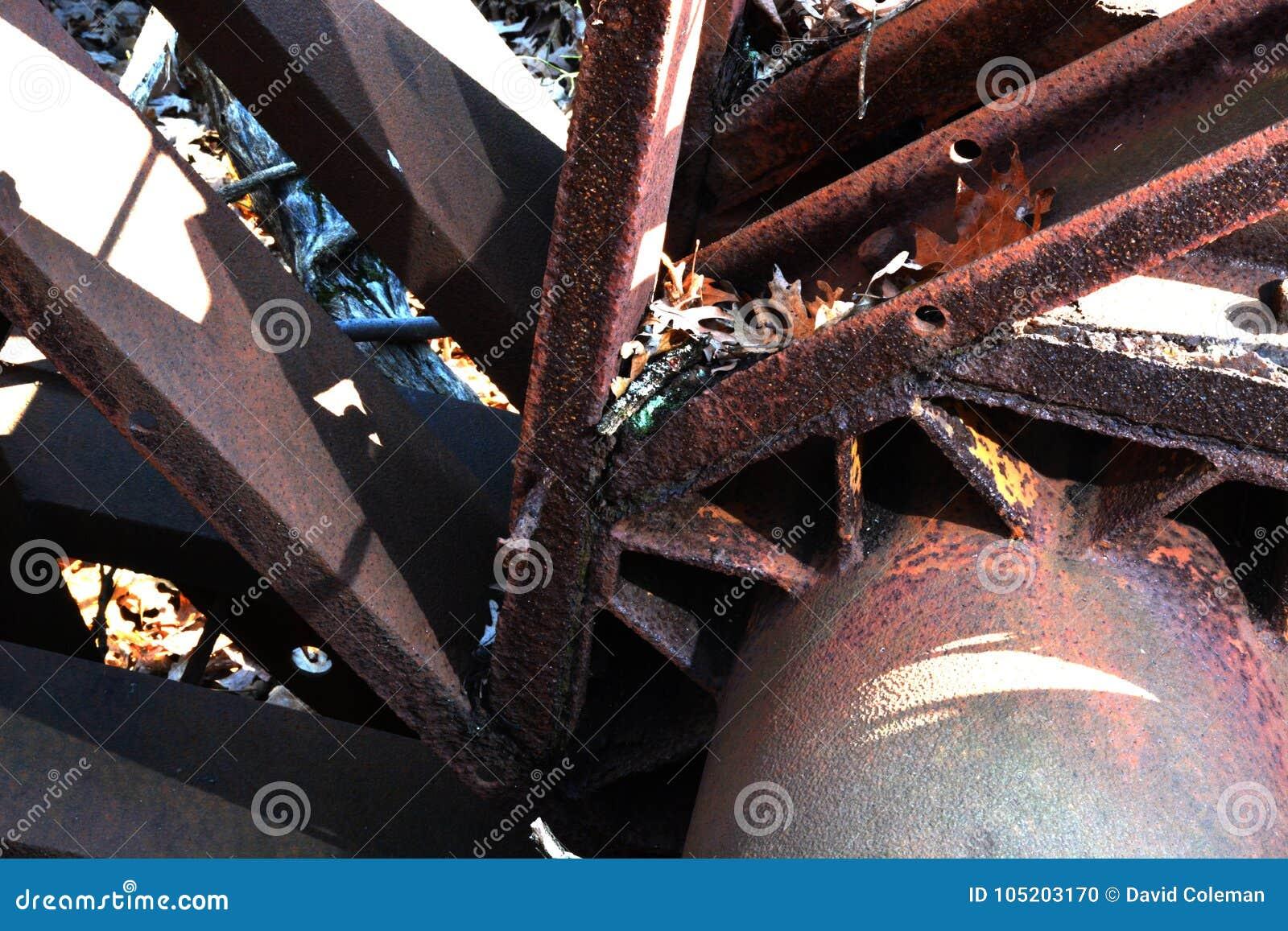Detalj för olje- borrtorn