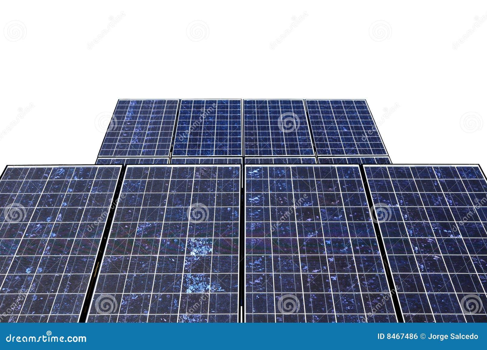 Detalj isolerad sol- white för panel