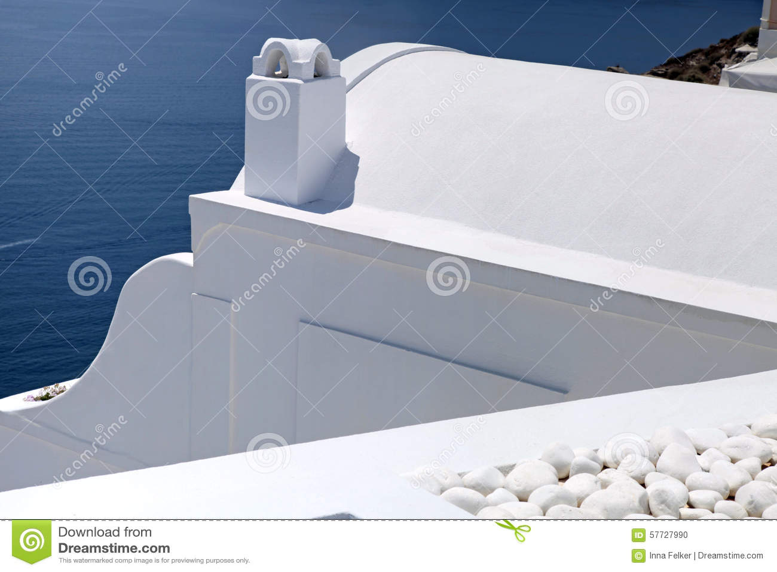 Detaljen av vit tvättade traditionella hus, Grekland, Santorini isl