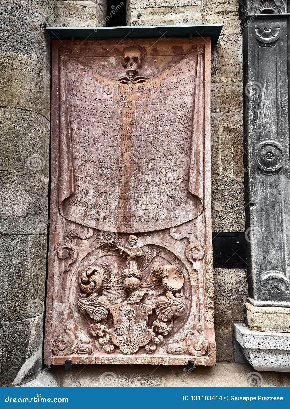 Detaljer av Sten Stephens Cathedral i Wien