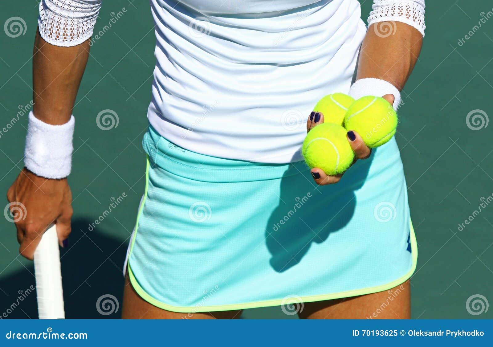 Detaljer av tennisspelareutrustning