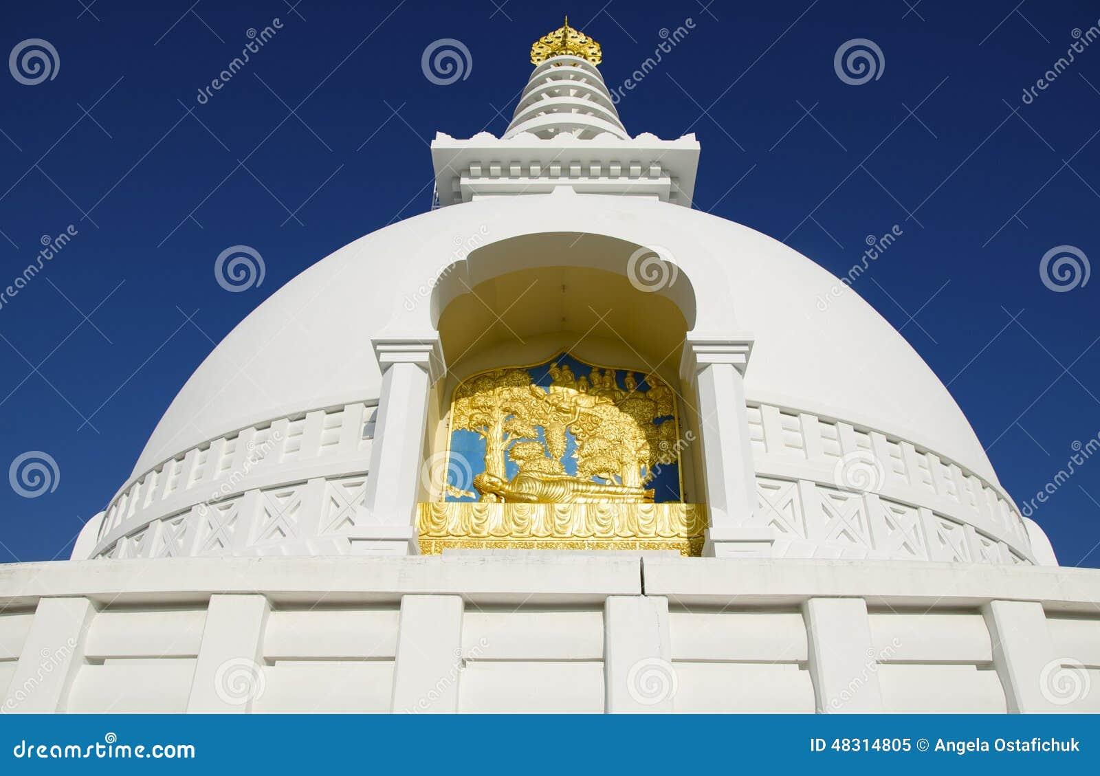 Detaljer för pagod för Lumbini världsfred