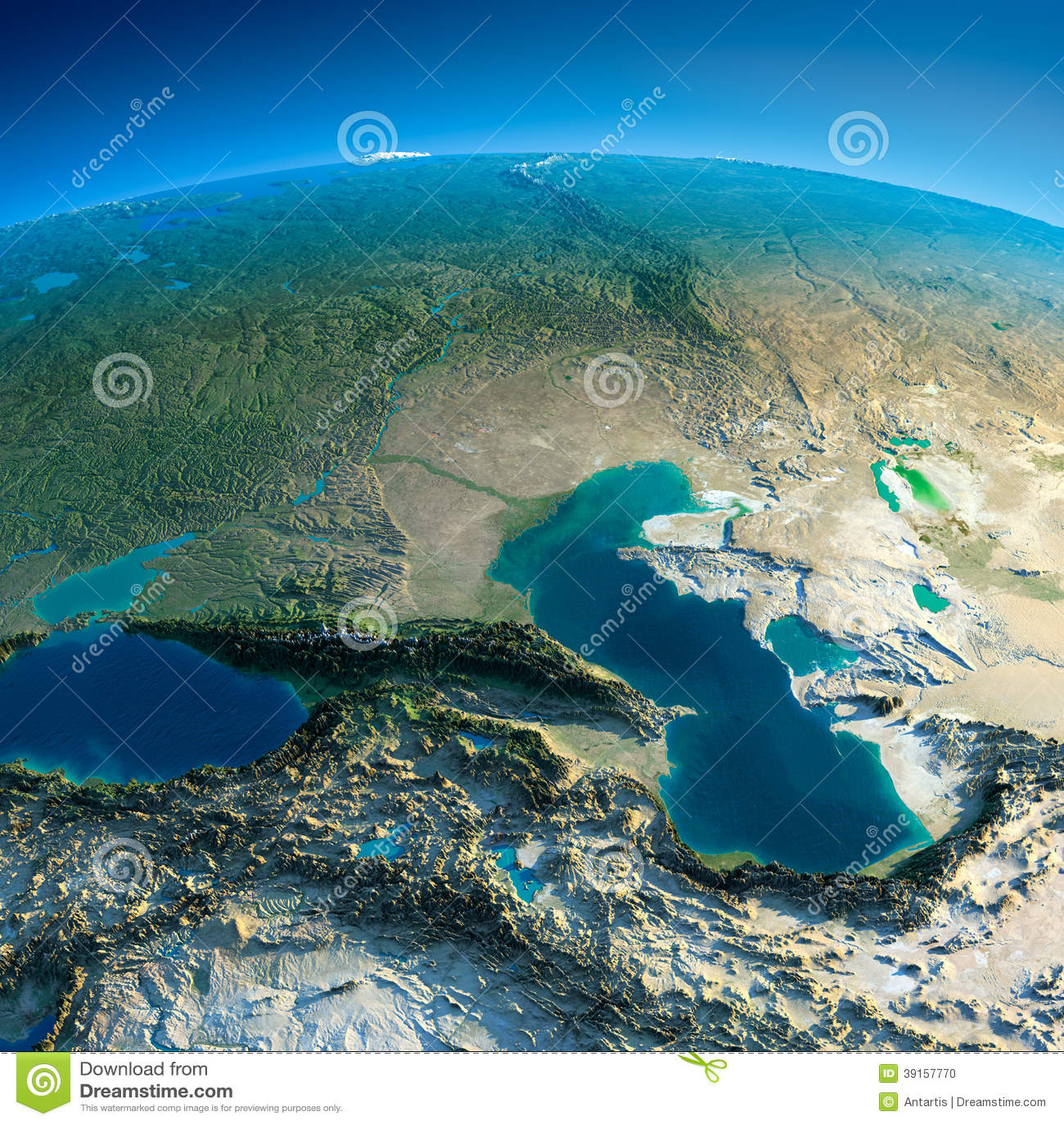 Detaljerad jord. Kaukasus