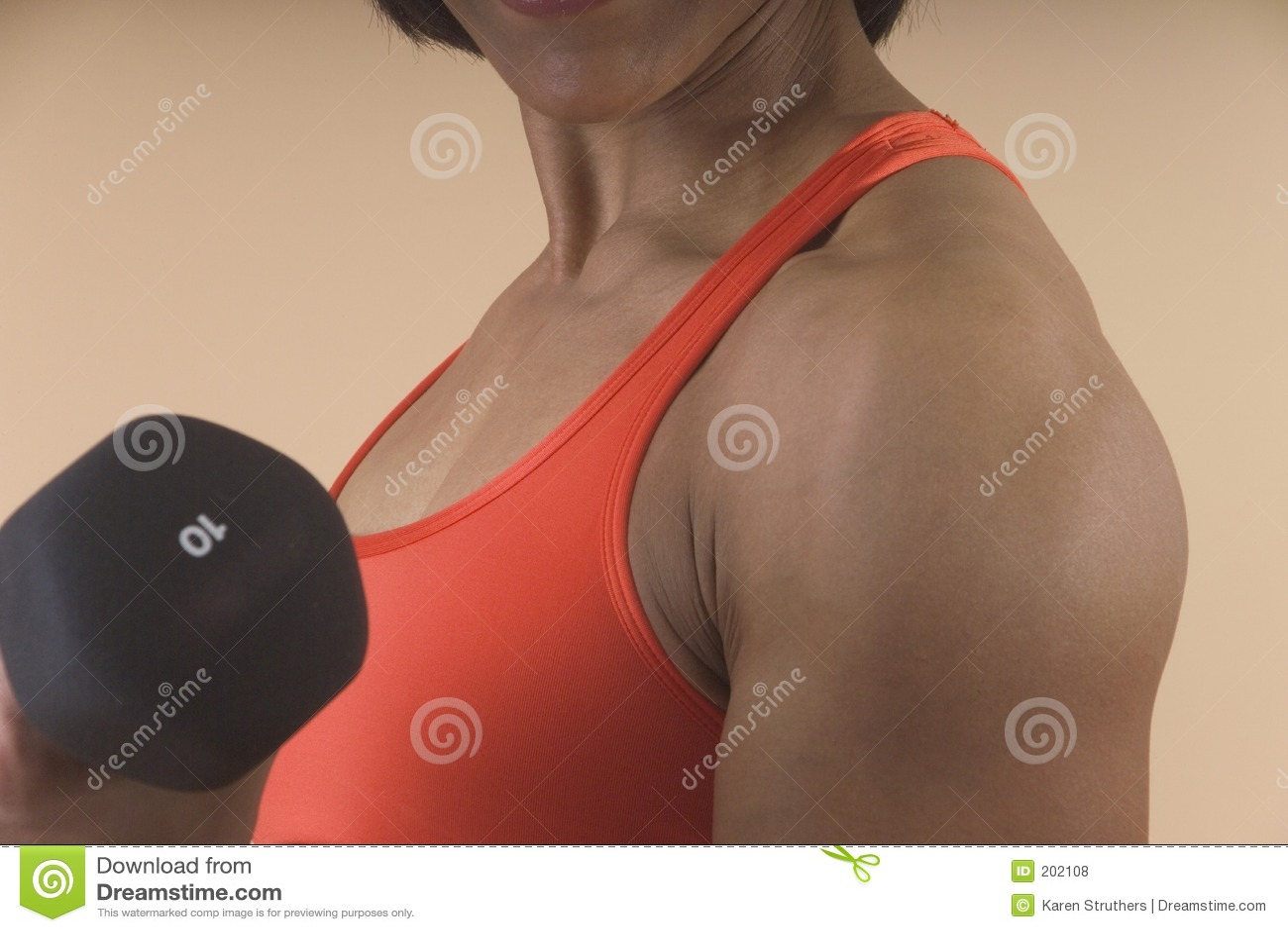 Detaljlyftande viktkvinna