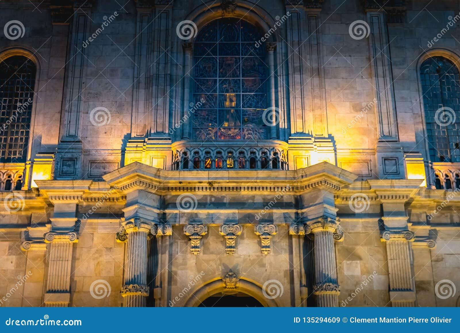 Detalle arquitectónico de la basílica de nuestra señora de Sameiro cerca de Braga