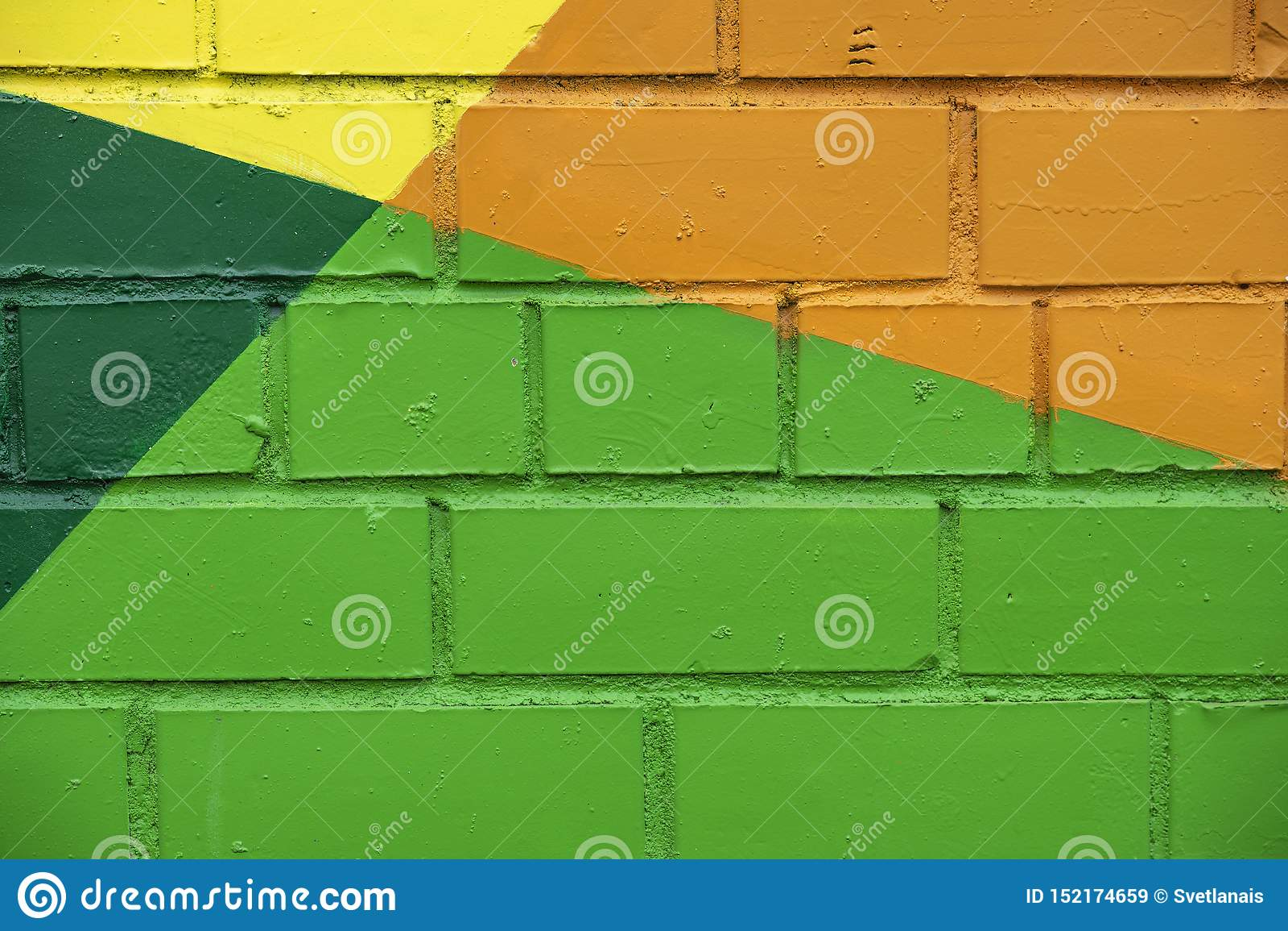 Detalle de dibujo colorido de la calle brillante abstracta de la pared de ladrillo, como como primer de la pintada Puede ser ?til
