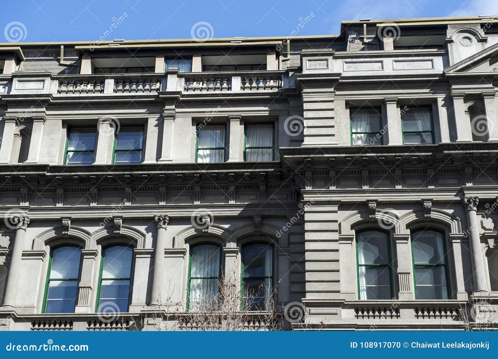 Detalle de la arquitectura del edificio en Australia