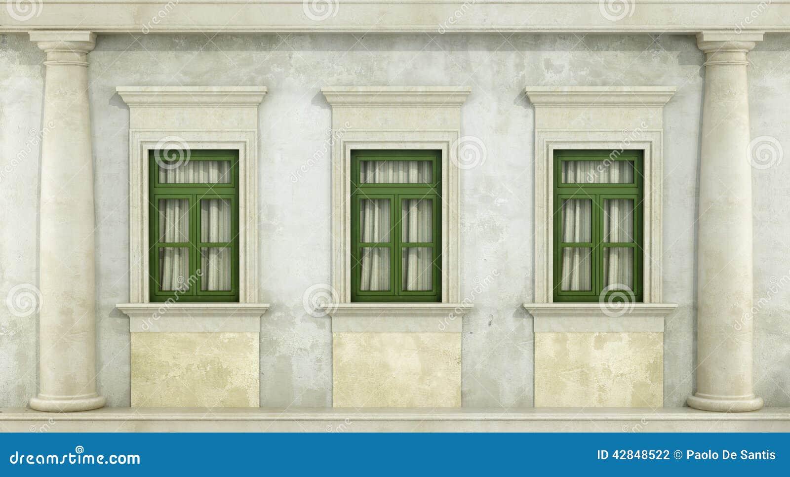 Detalle de la fachada del classc