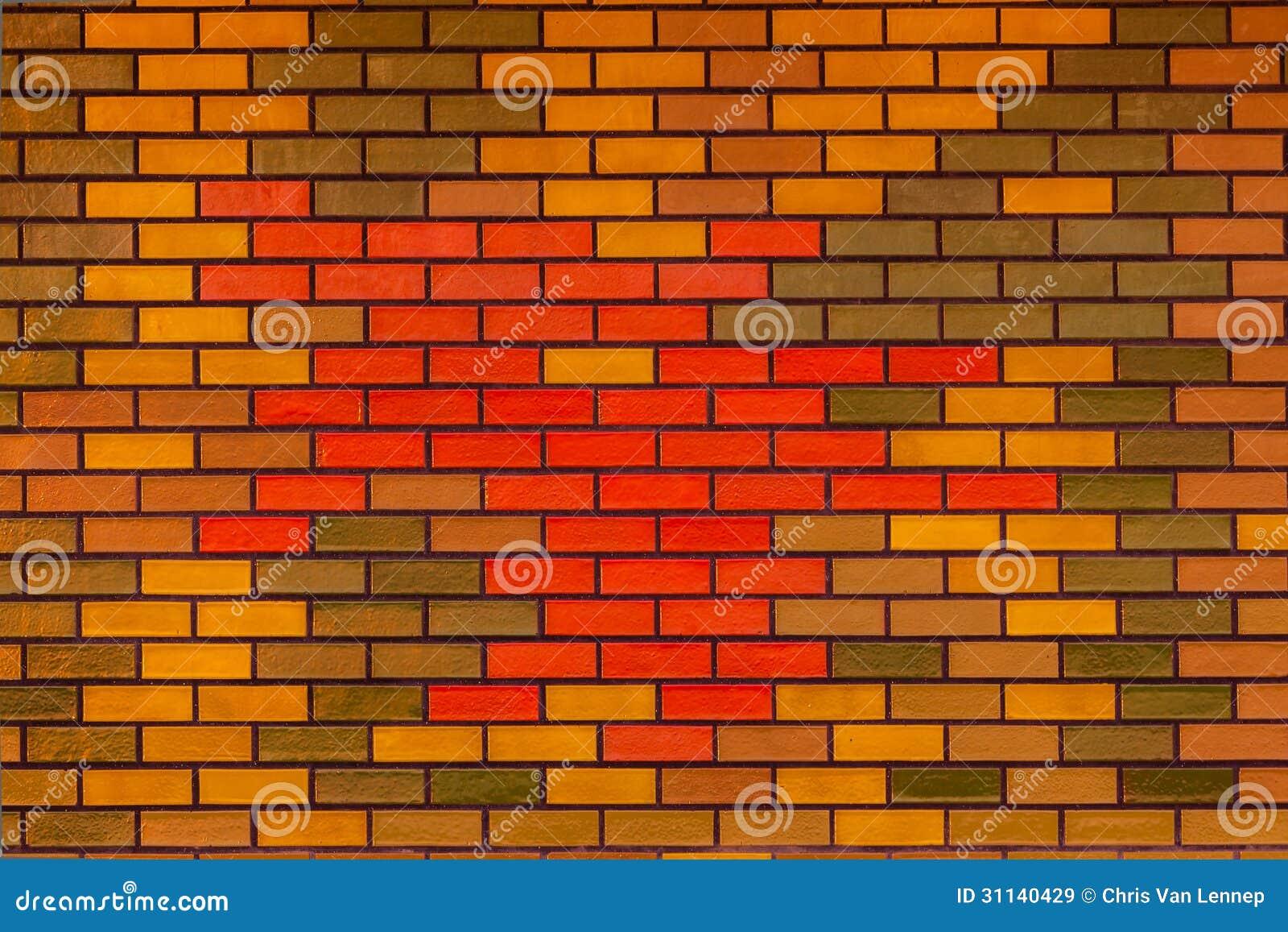 Detalle de la pared de ladrillo de los colores im genes de - Ladrillos de colores ...