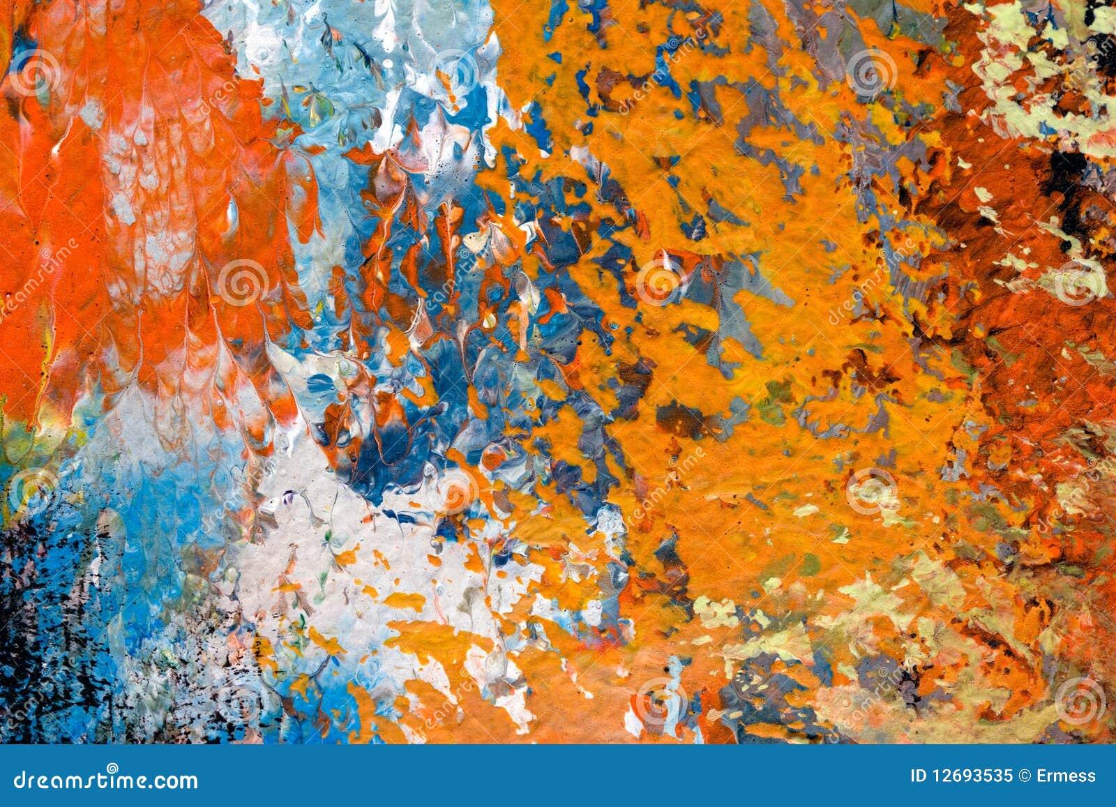 Detalle de la pintura al óleo