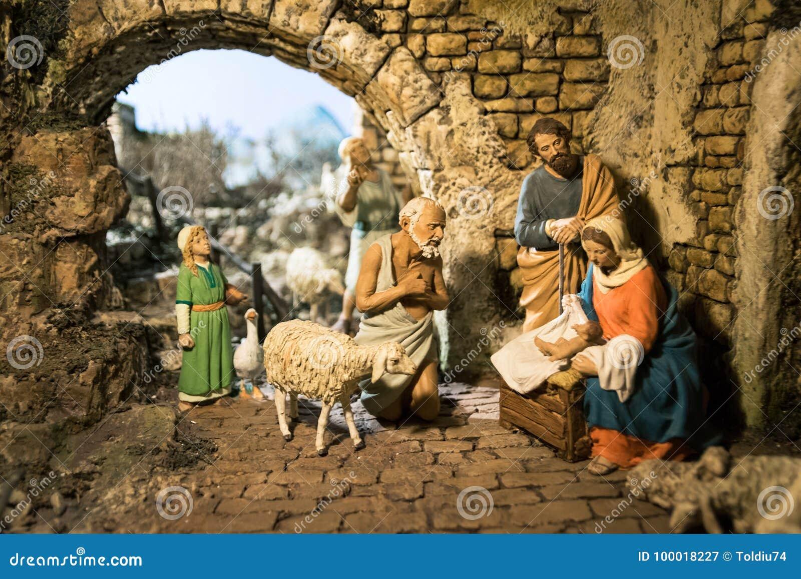 5cd90d46398 Detalle De Madera De Los Pesebres De La Navidad Fotografía editorial ...