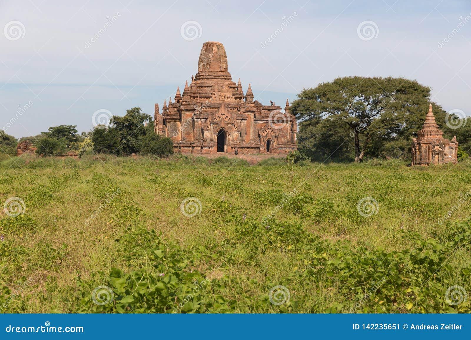 Detalle de templos antiguos en Bagan, Myanmar (Birmania