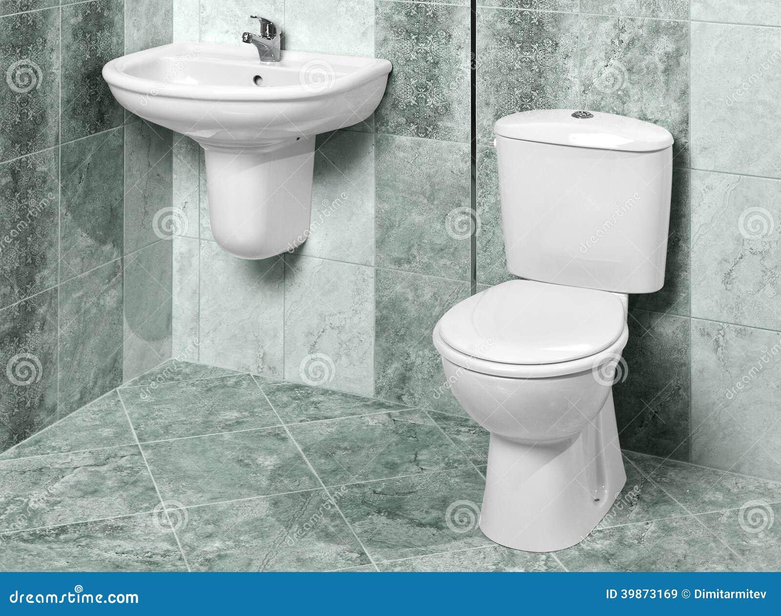 Baños Modernos Marmol: : Detalle de un interior moderno del cuarto de baño en mármol verde