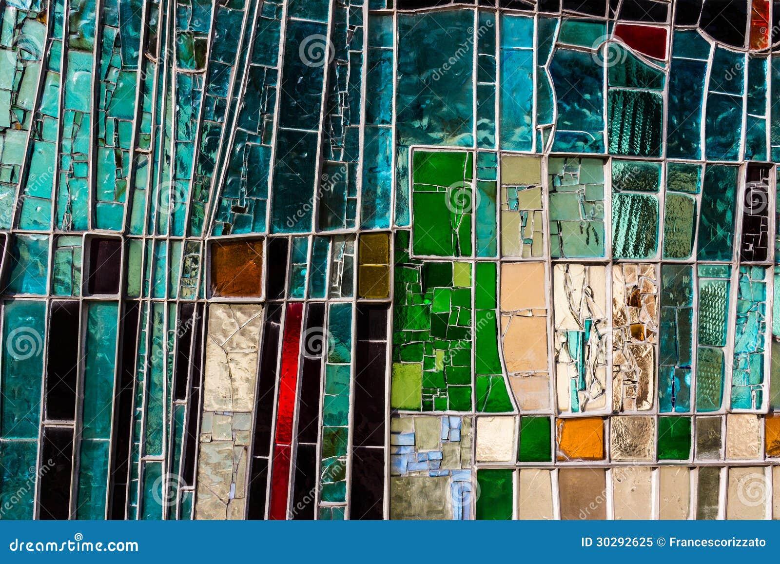 Ventana de cristal colorida