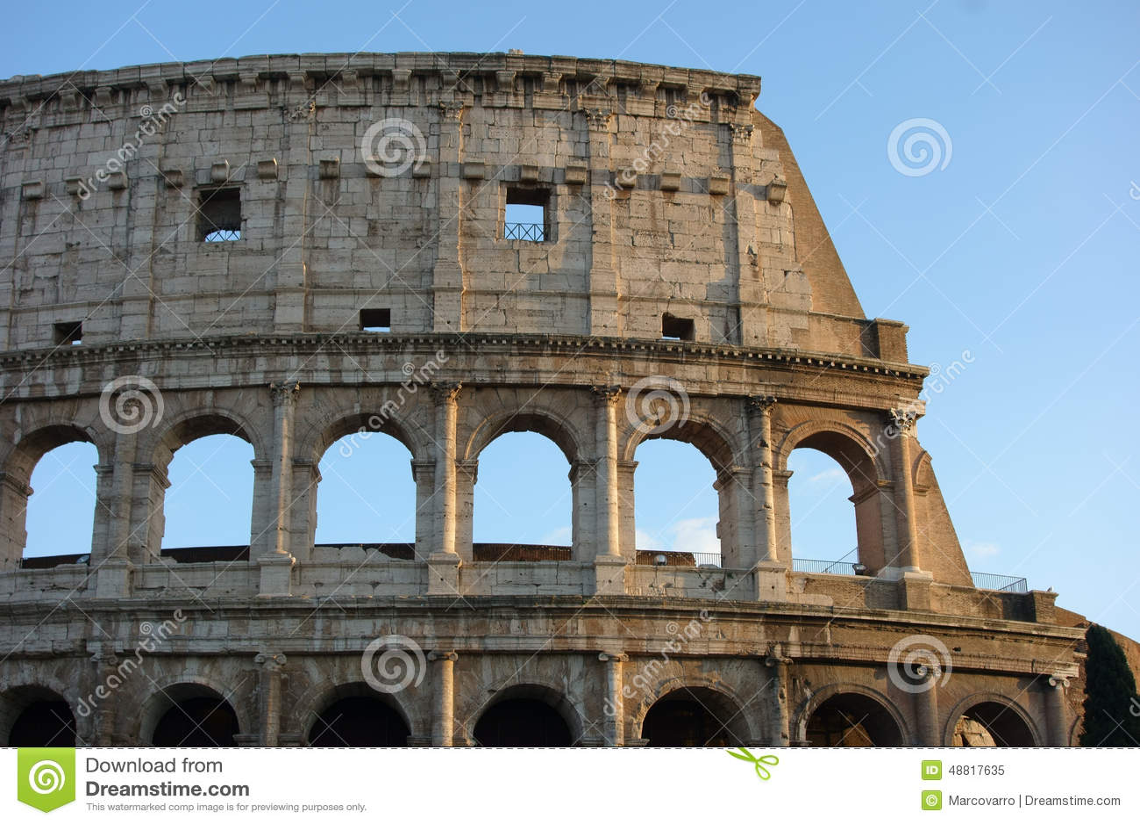 Detalle Del Coliseo Roma Italia Imagen Editorial Imagen De