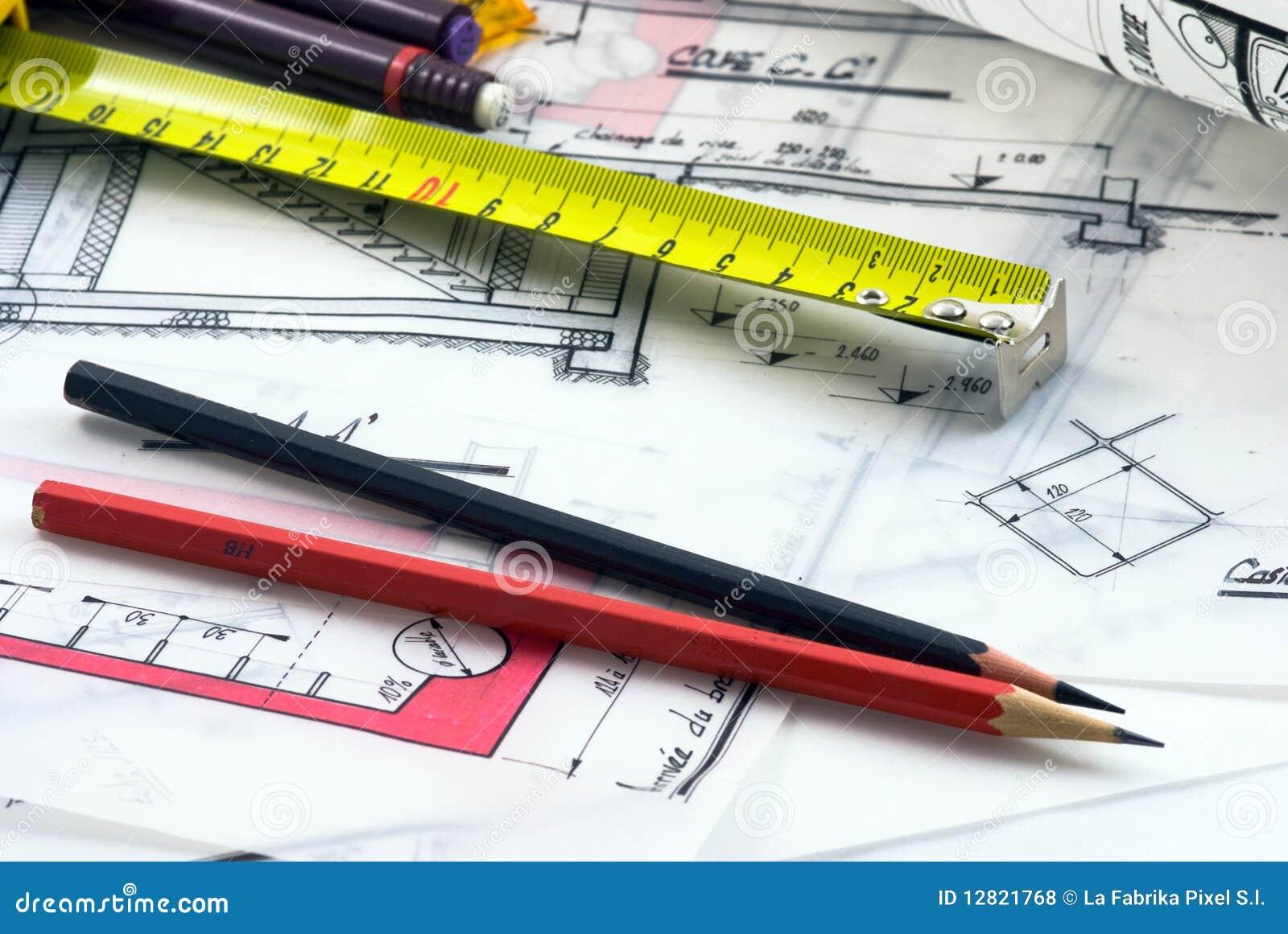 Detalle del escritorio del arquitecto for Escritorio arquitecto
