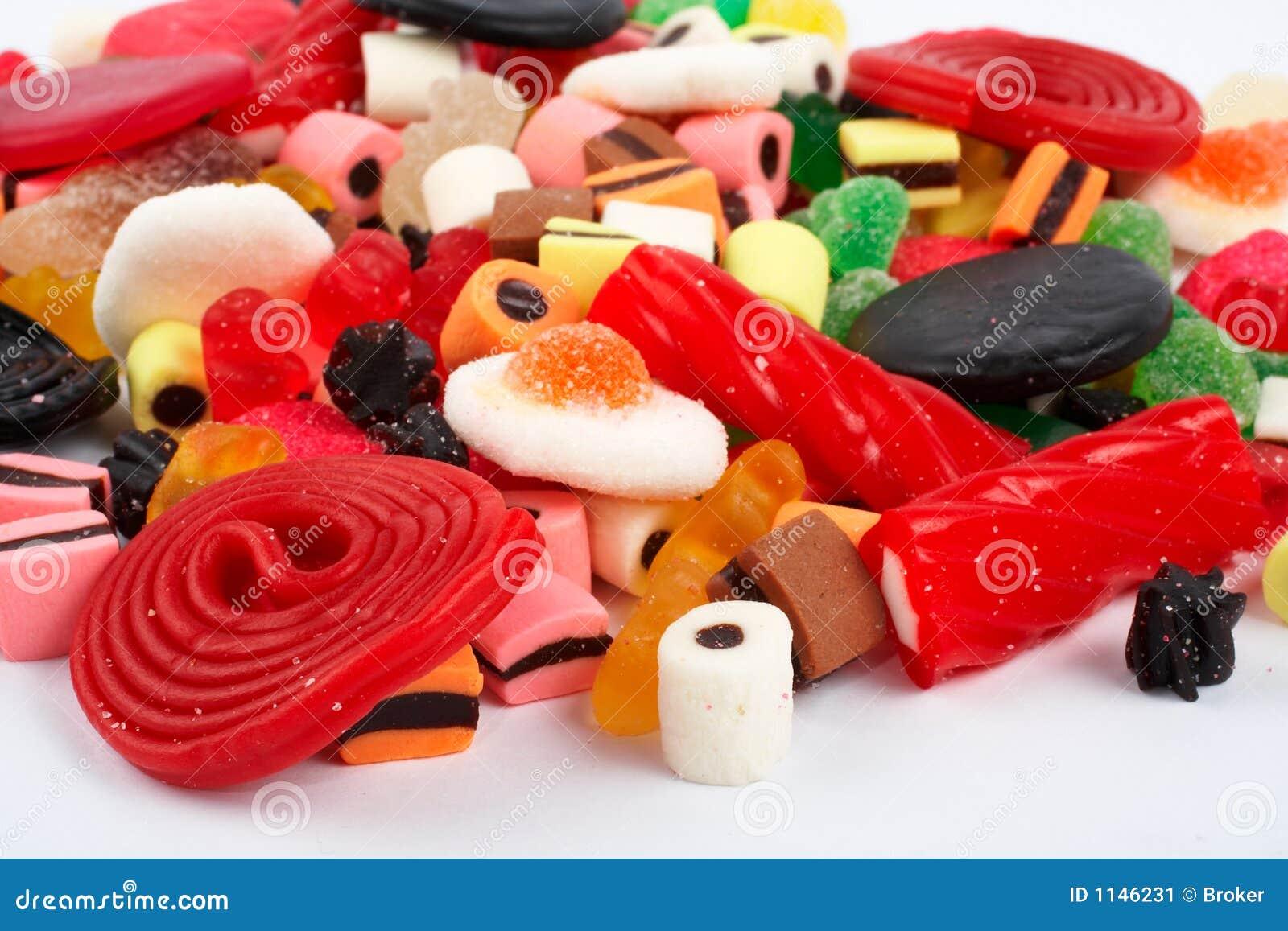 Detalle del fondo colorido de los dulces