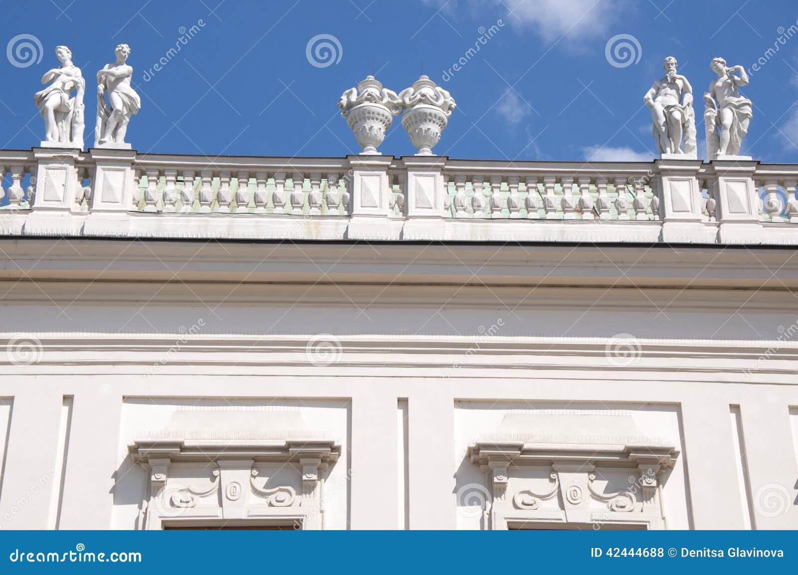 Detalle del palacio superior del belvedere en Viena