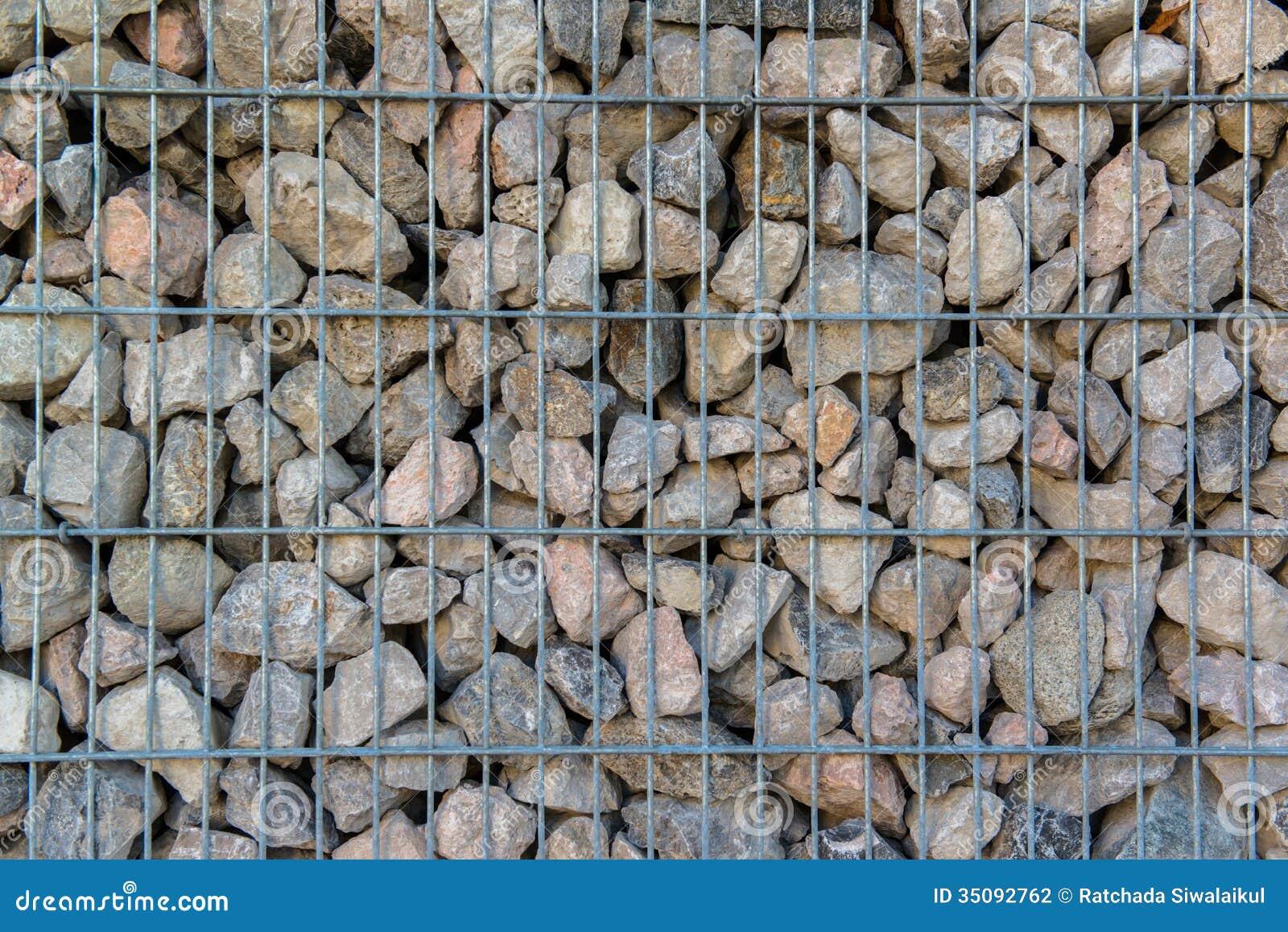 Detalle Tirado De Un Muro De Contencin De Piedra Foto de archivo