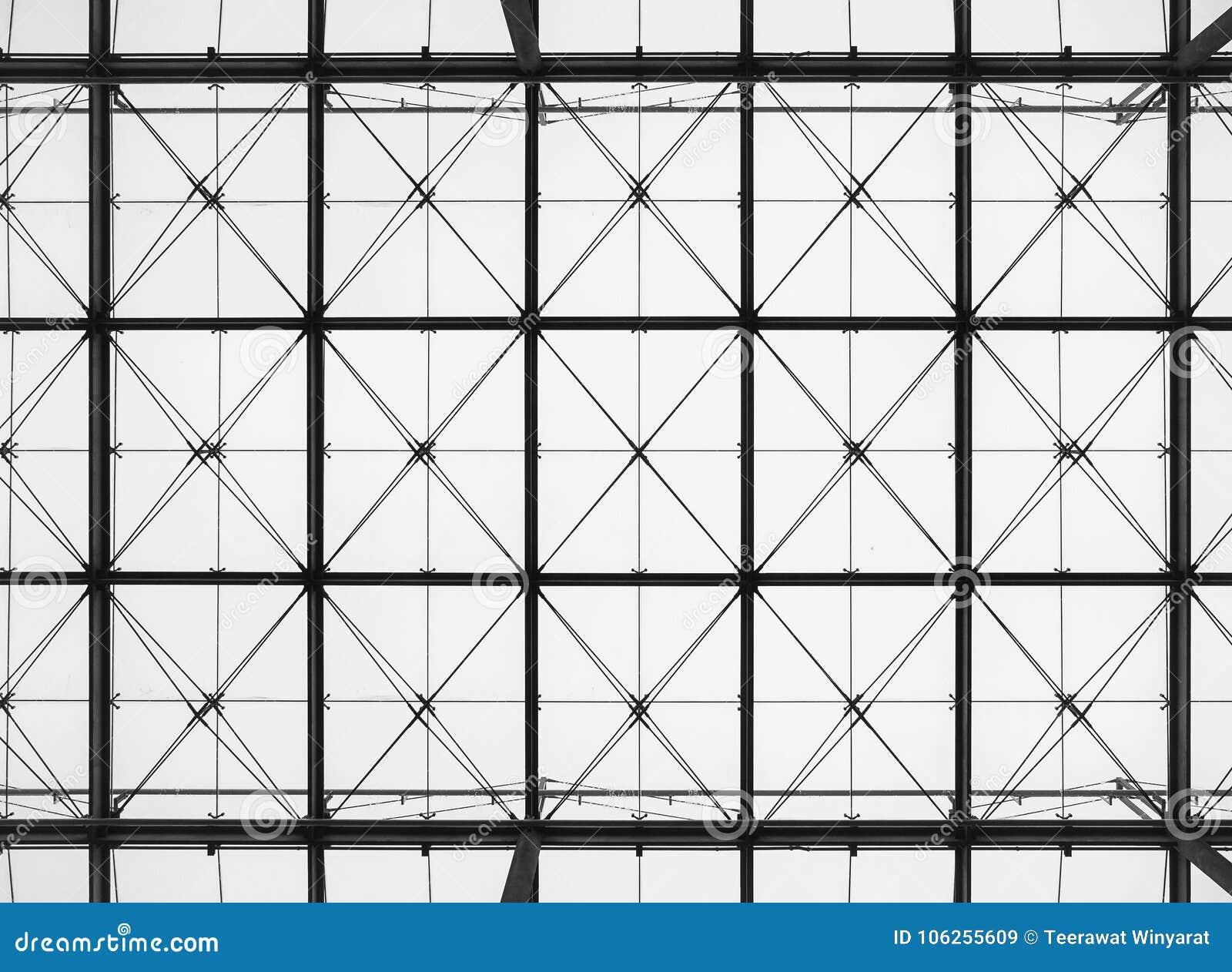Detalles de acero de la arquitectura de la estructura de edificio del modelo
