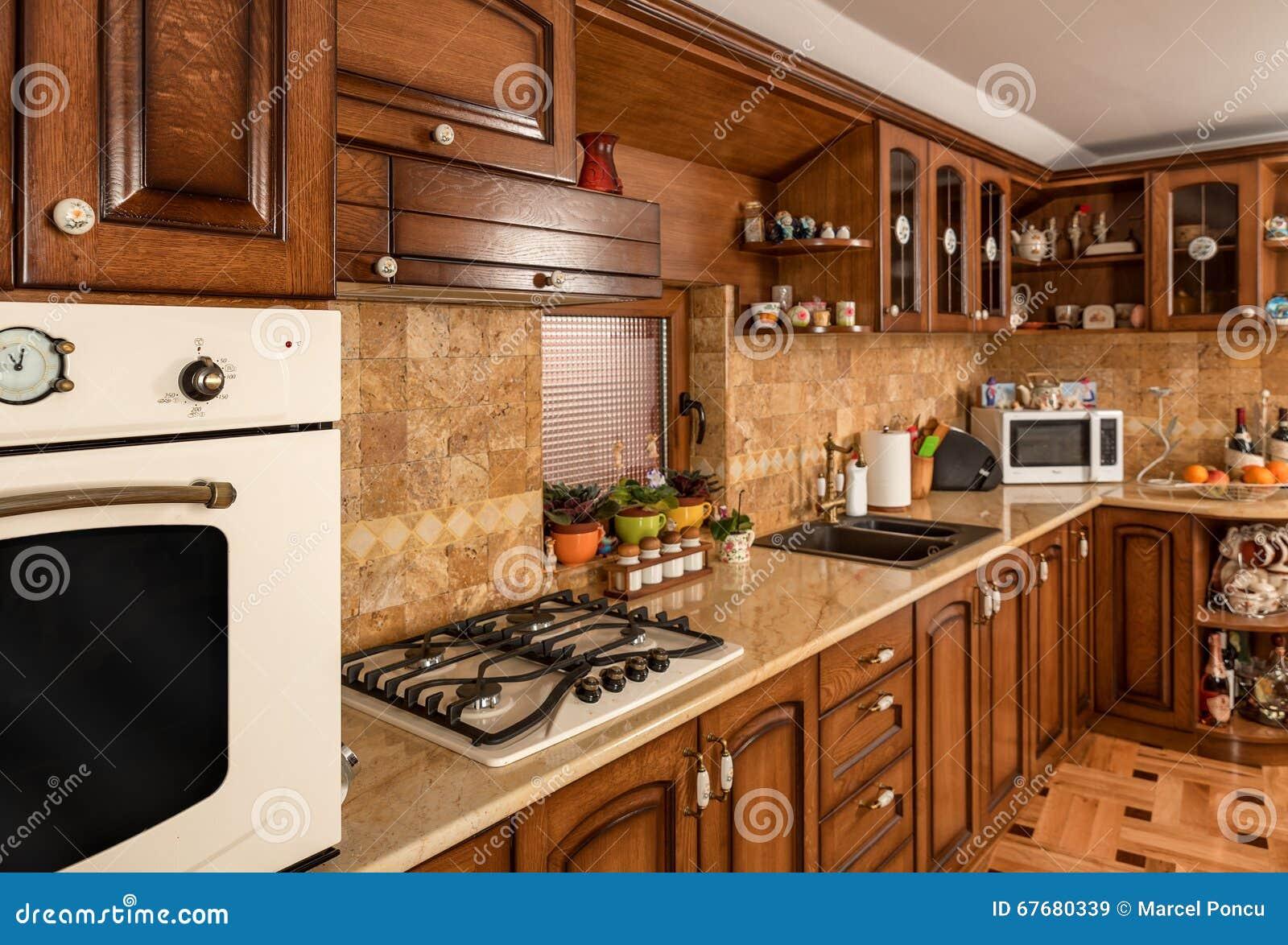 Detalles Del Interior De Los Muebles De La Cocina De Madera S Lida  # Muebles De Cocina De Madera