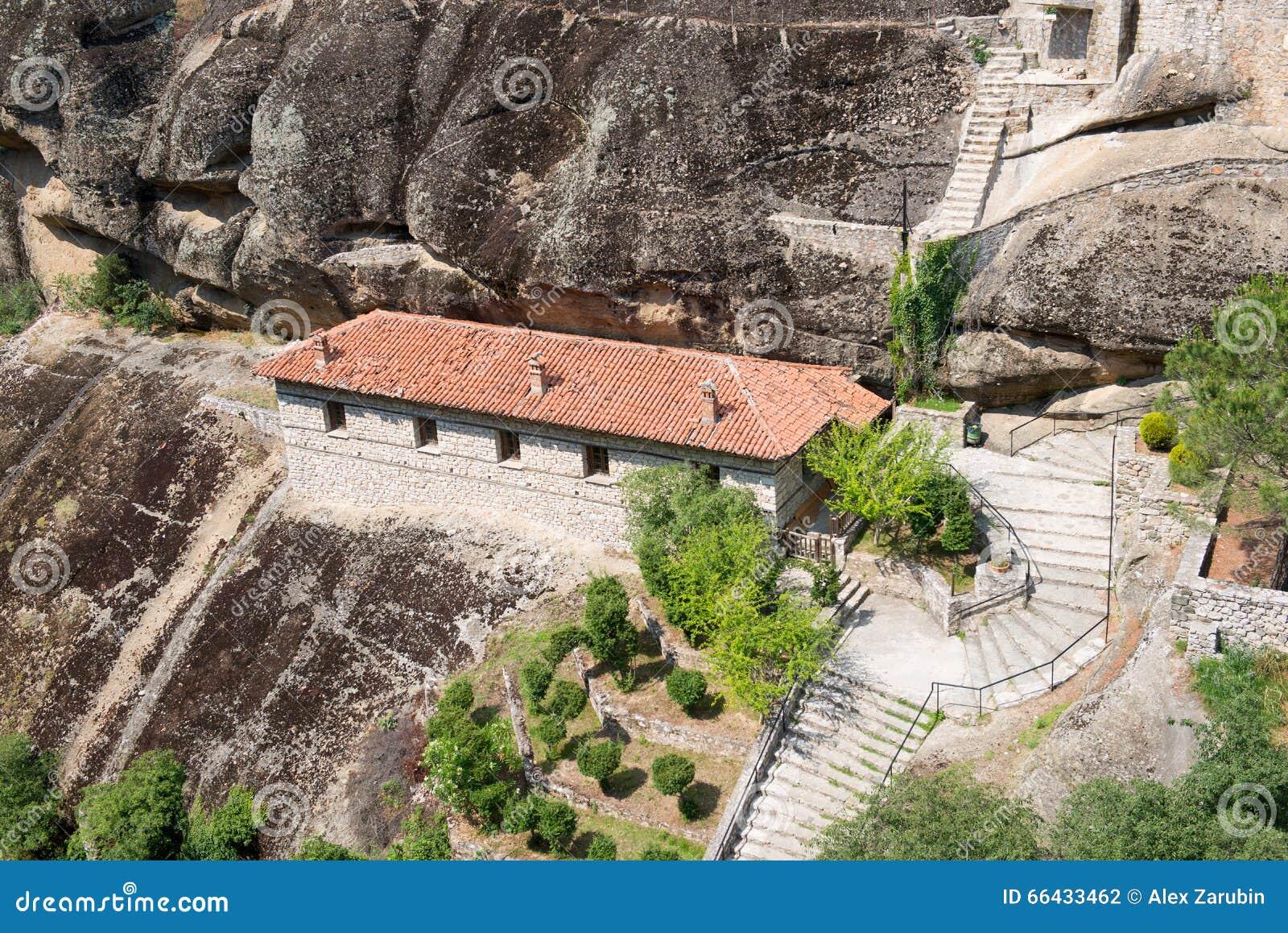 Detalles del monasterio santo de gran Meteoron