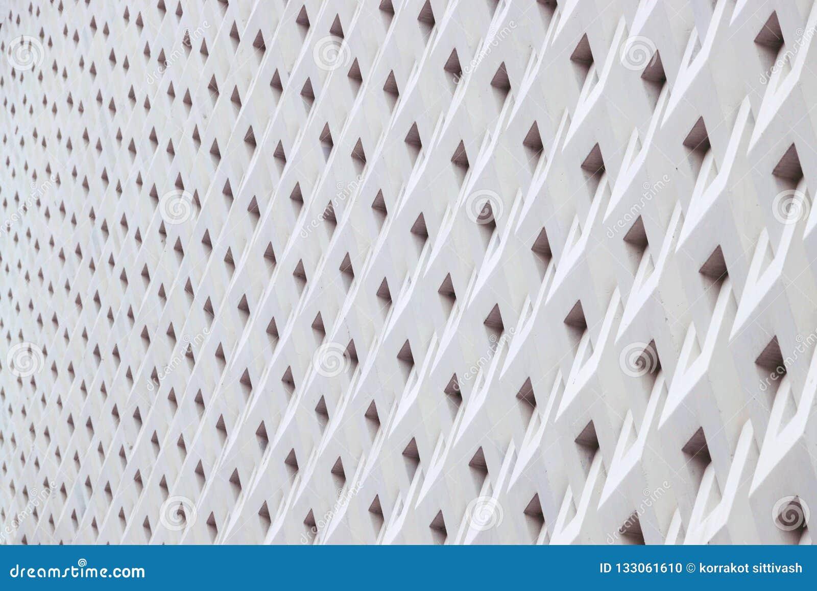Detalles geométricos de la arquitectura del modelo de los detalles de la arquitectura del panel del cemento